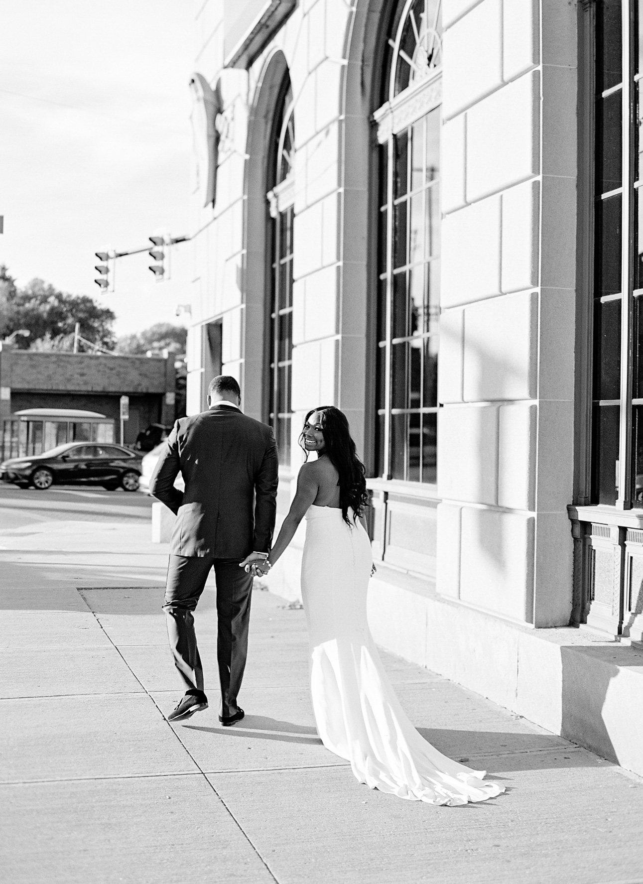 shanice & stephen wedding couple walking