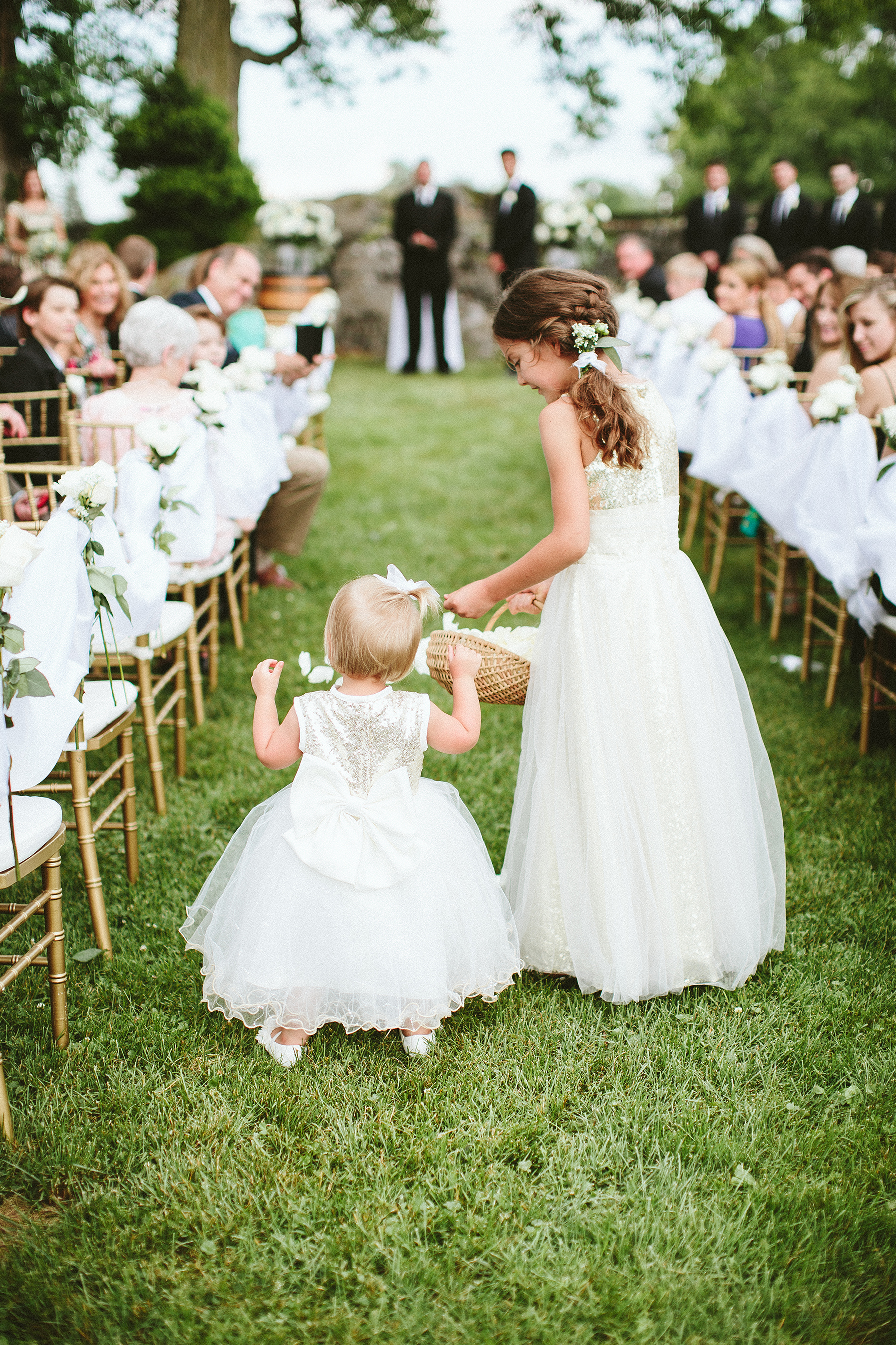 Flower Girl Hairstyle French Braid Side Pony