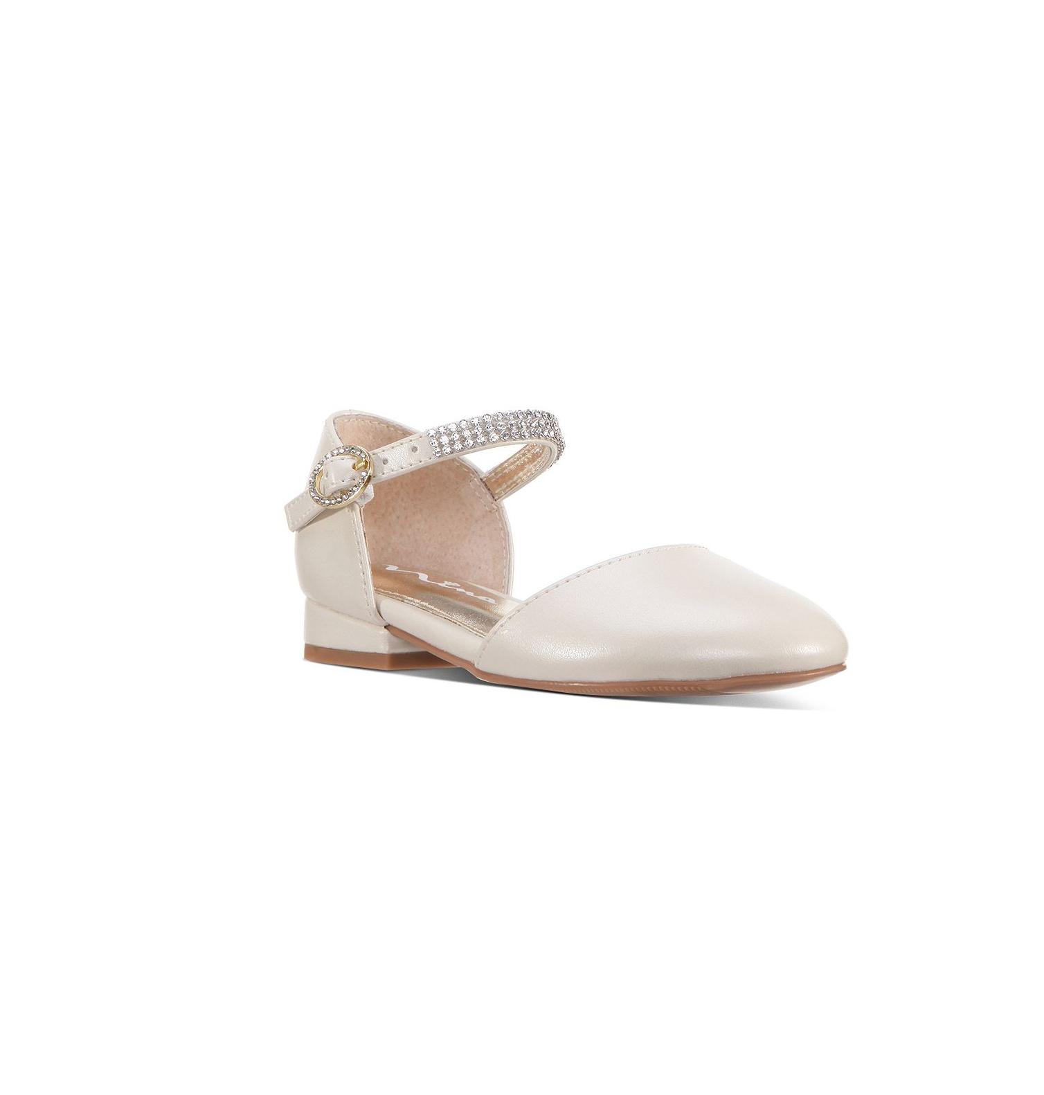 flower girl shoes embellished ankle flats