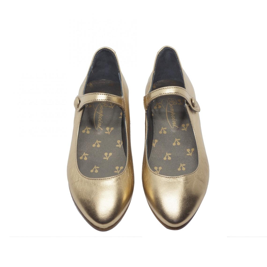 flower girls shoes bonpoint gold