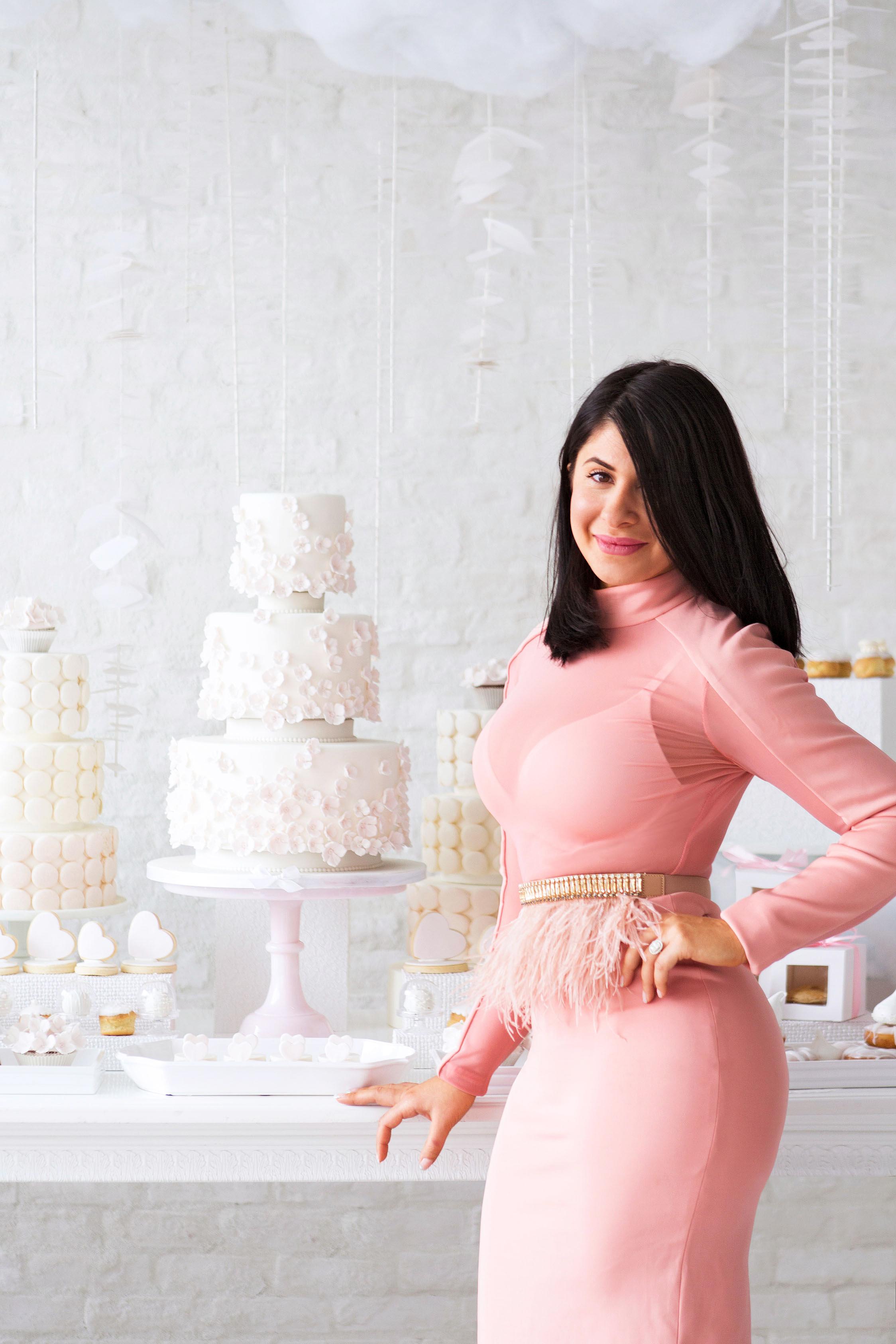 bride in front of treats