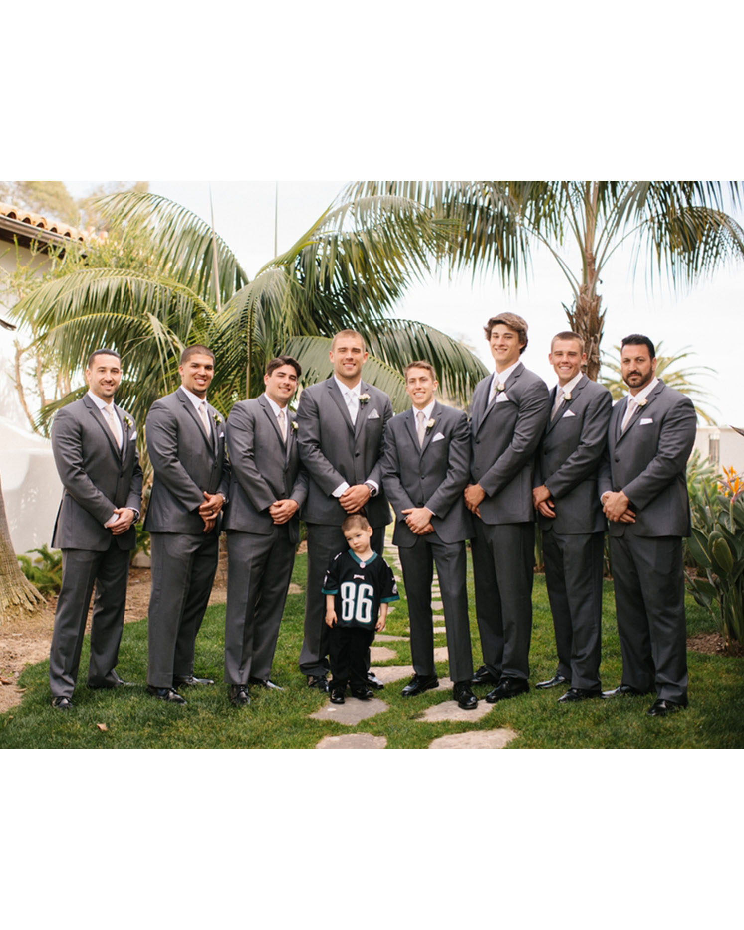 zach ertz groomsmen ring bearer