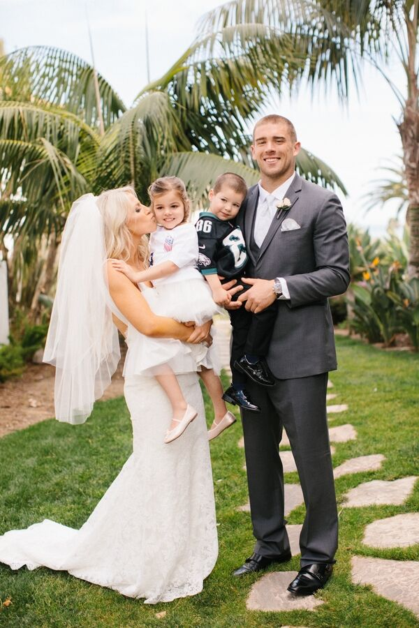 julie johnston zach ertz flower girl ring bearer