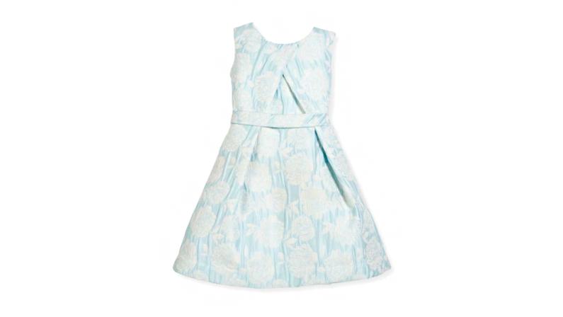 Helena Floral Jacquard Pleated Dress