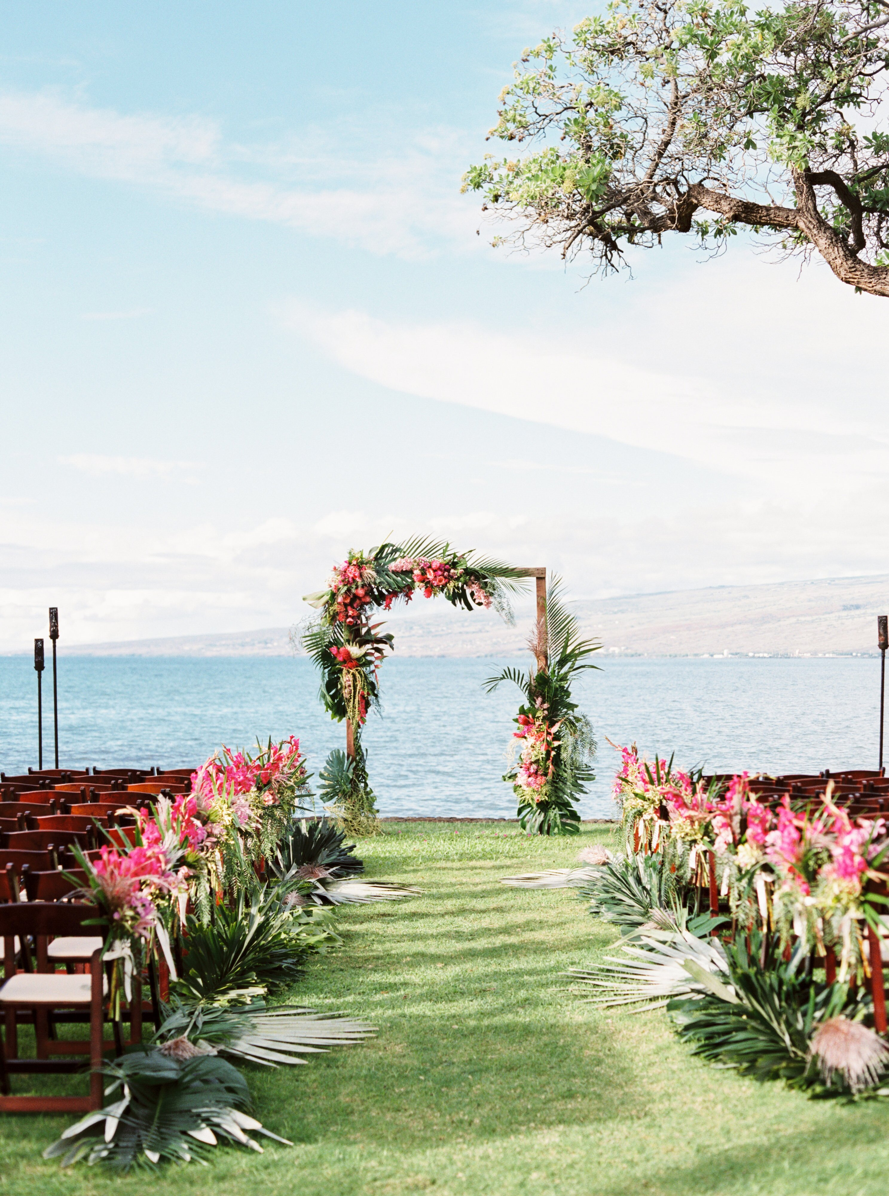 a casual beach wedding in puako, hawaii | martha stewart