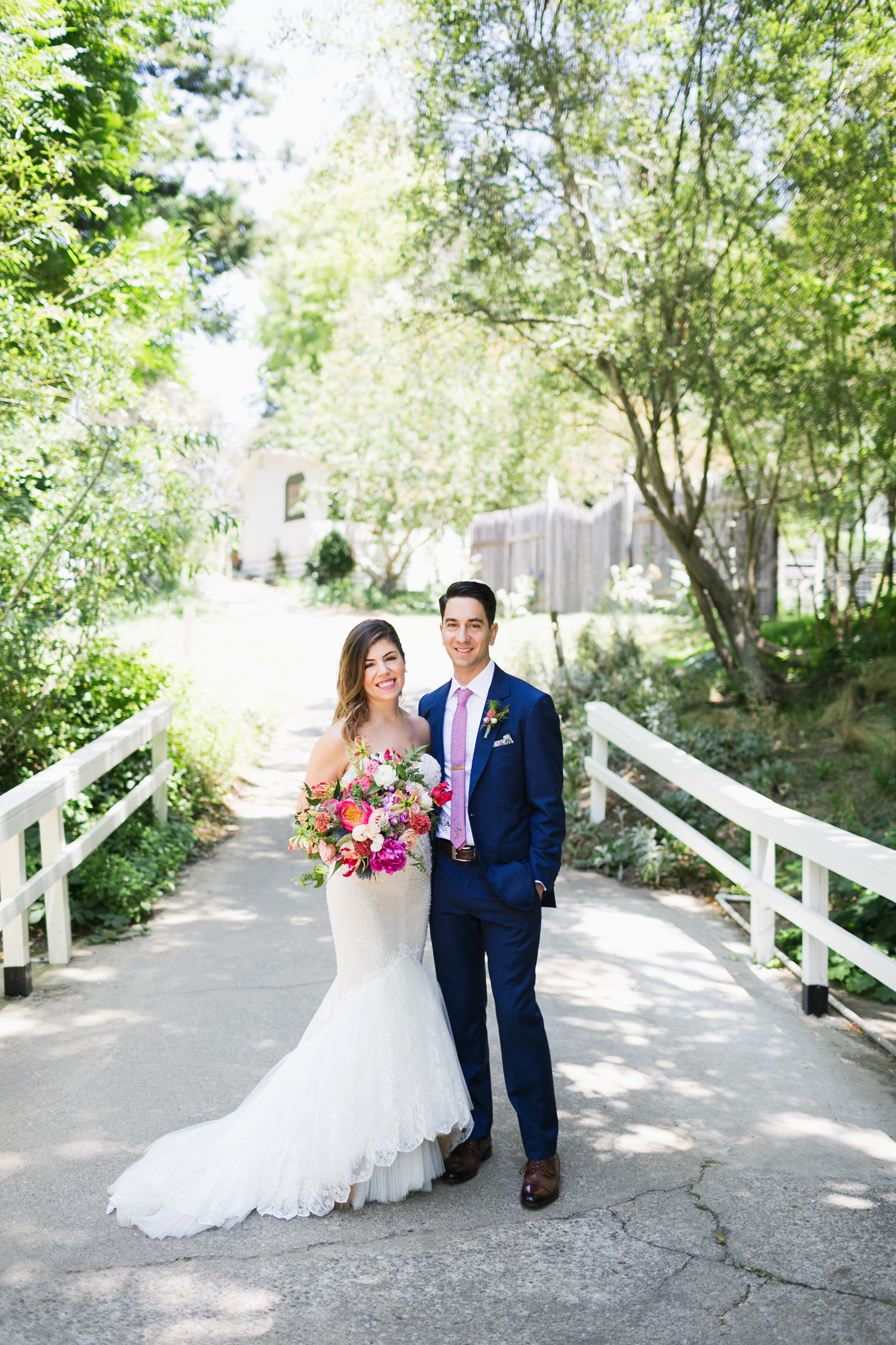 molly adam wedding couple on bridge