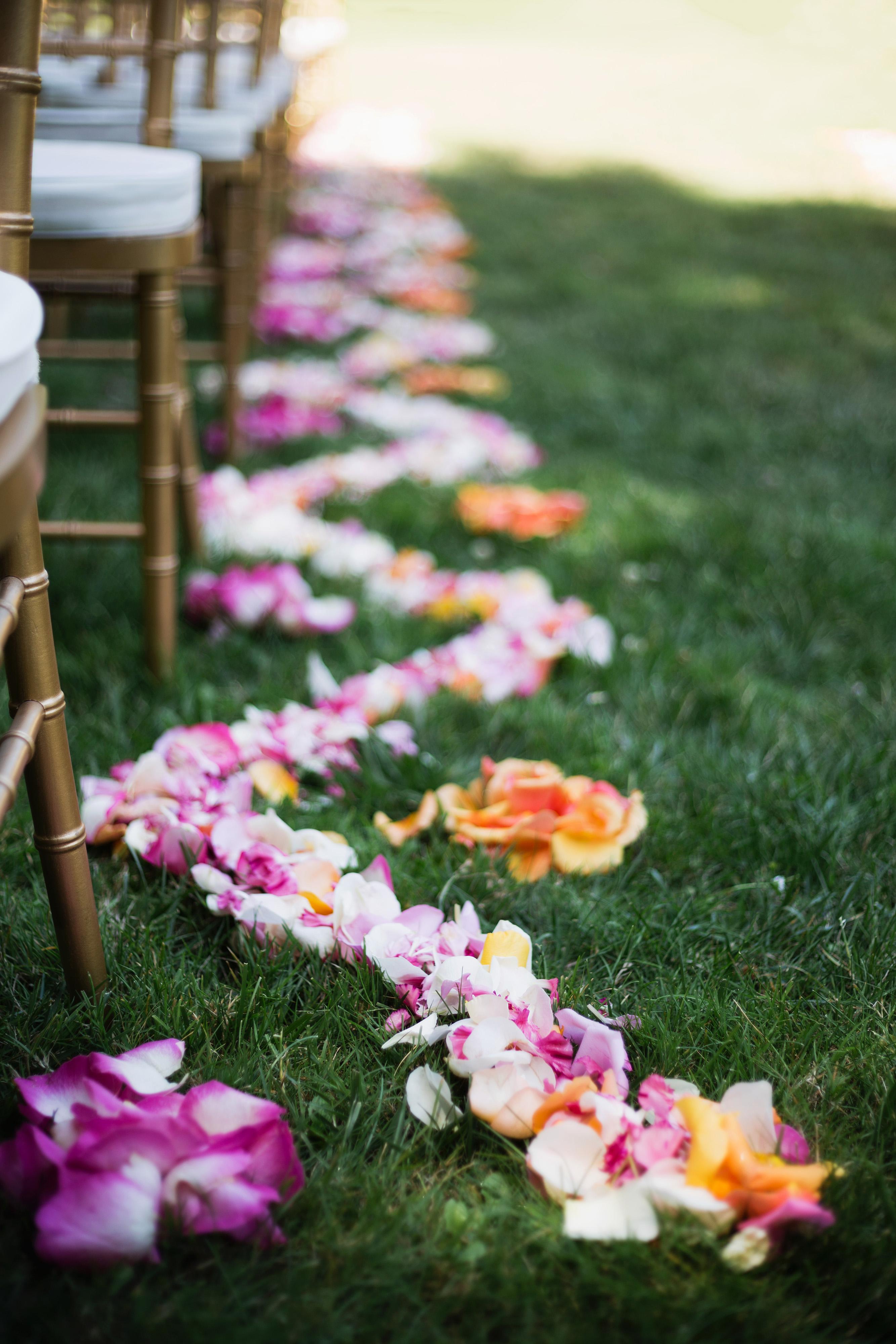molly adam wedding aisle petals