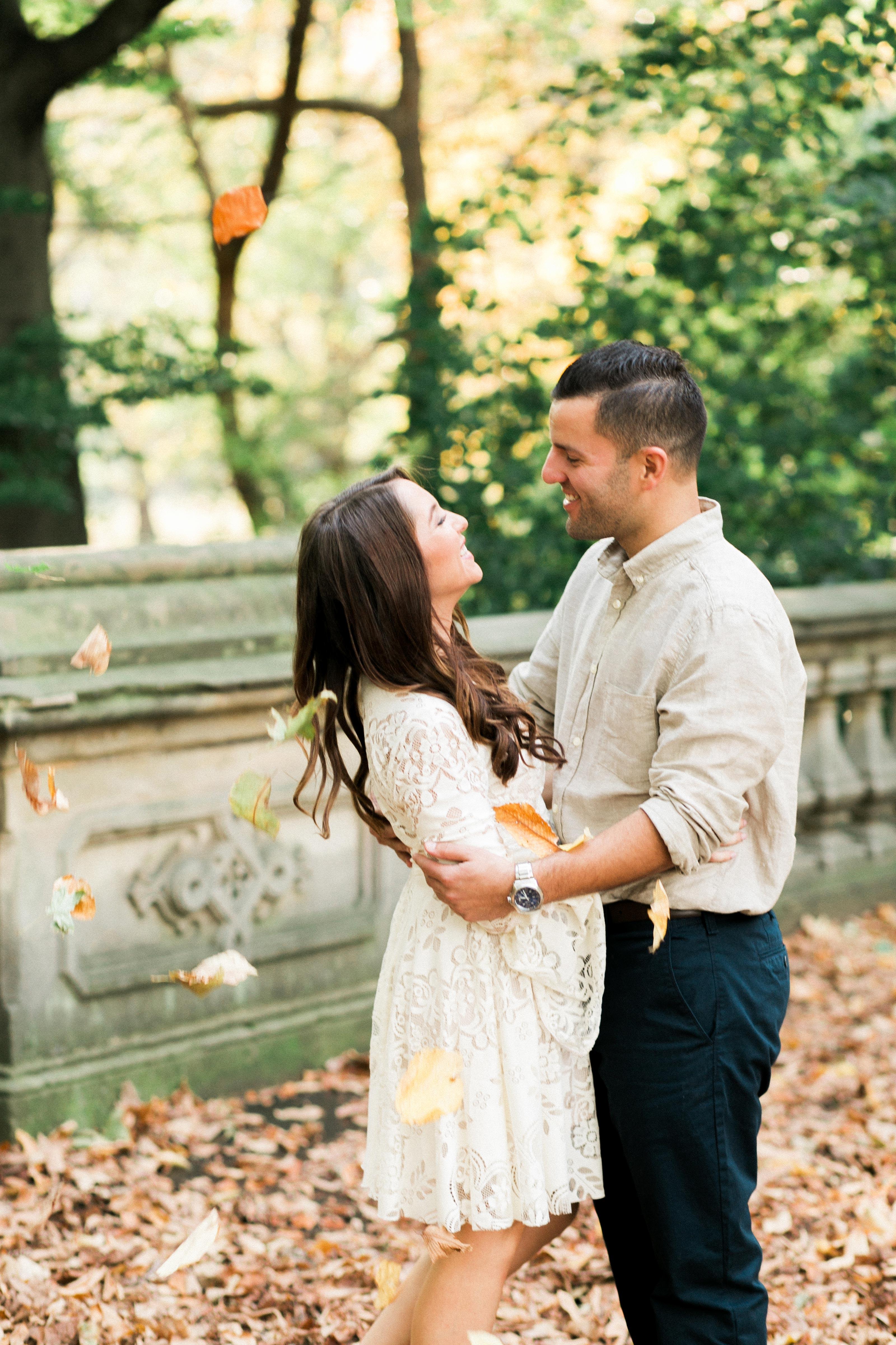 couple fall leaves
