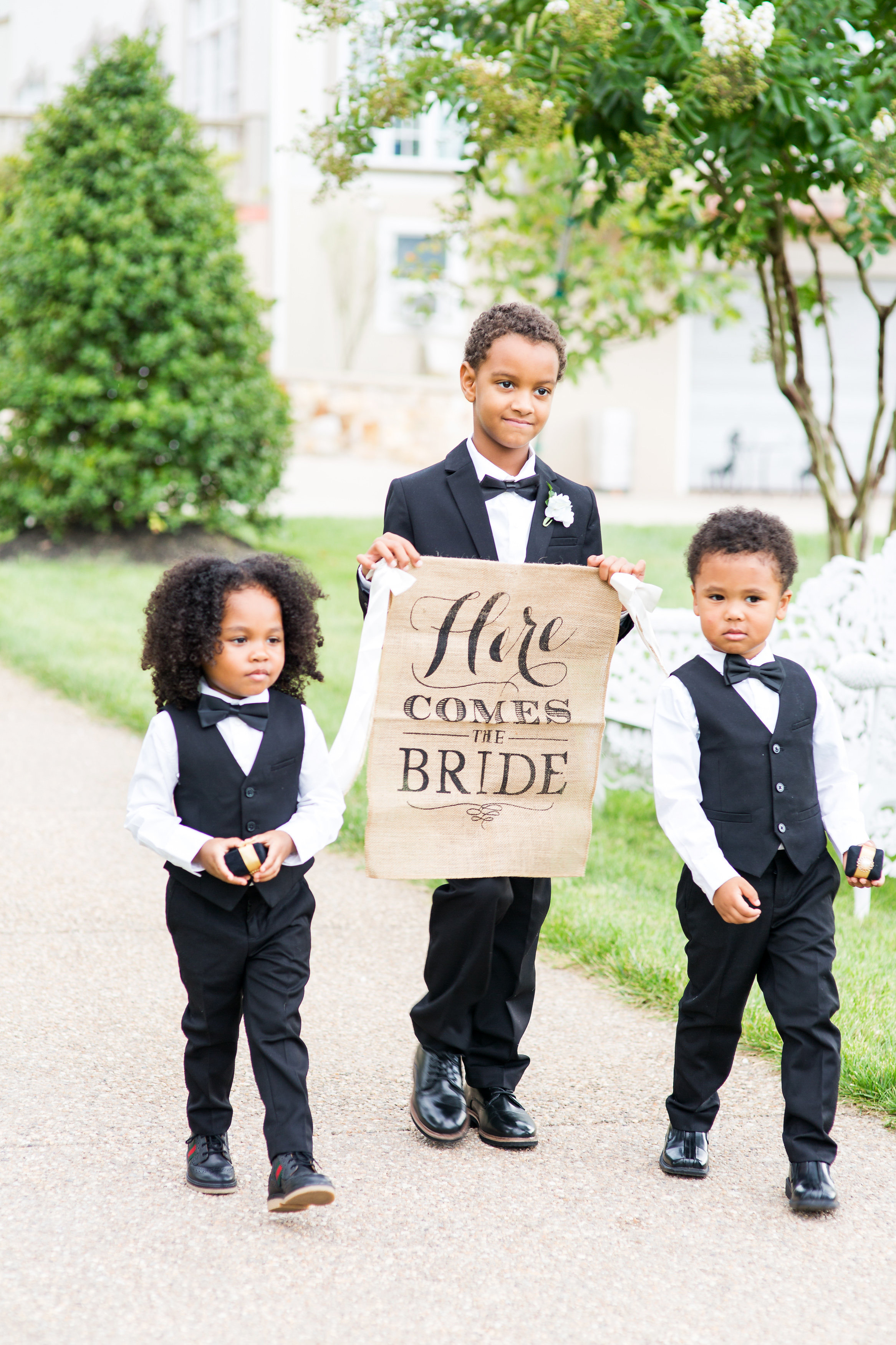kenisha wendall wedding ring bearers sign