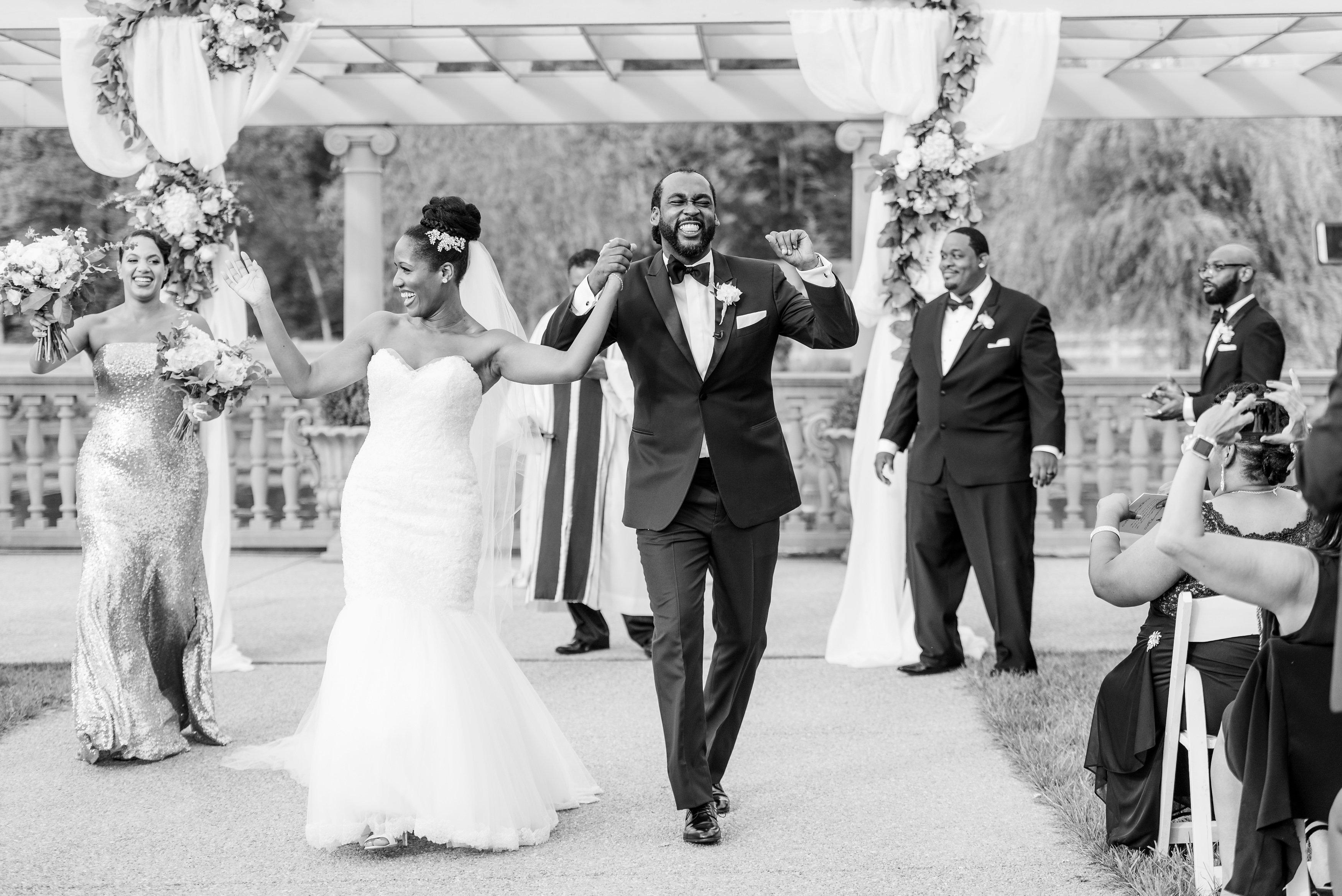 kenisha wendall wedding couple ceremony just married