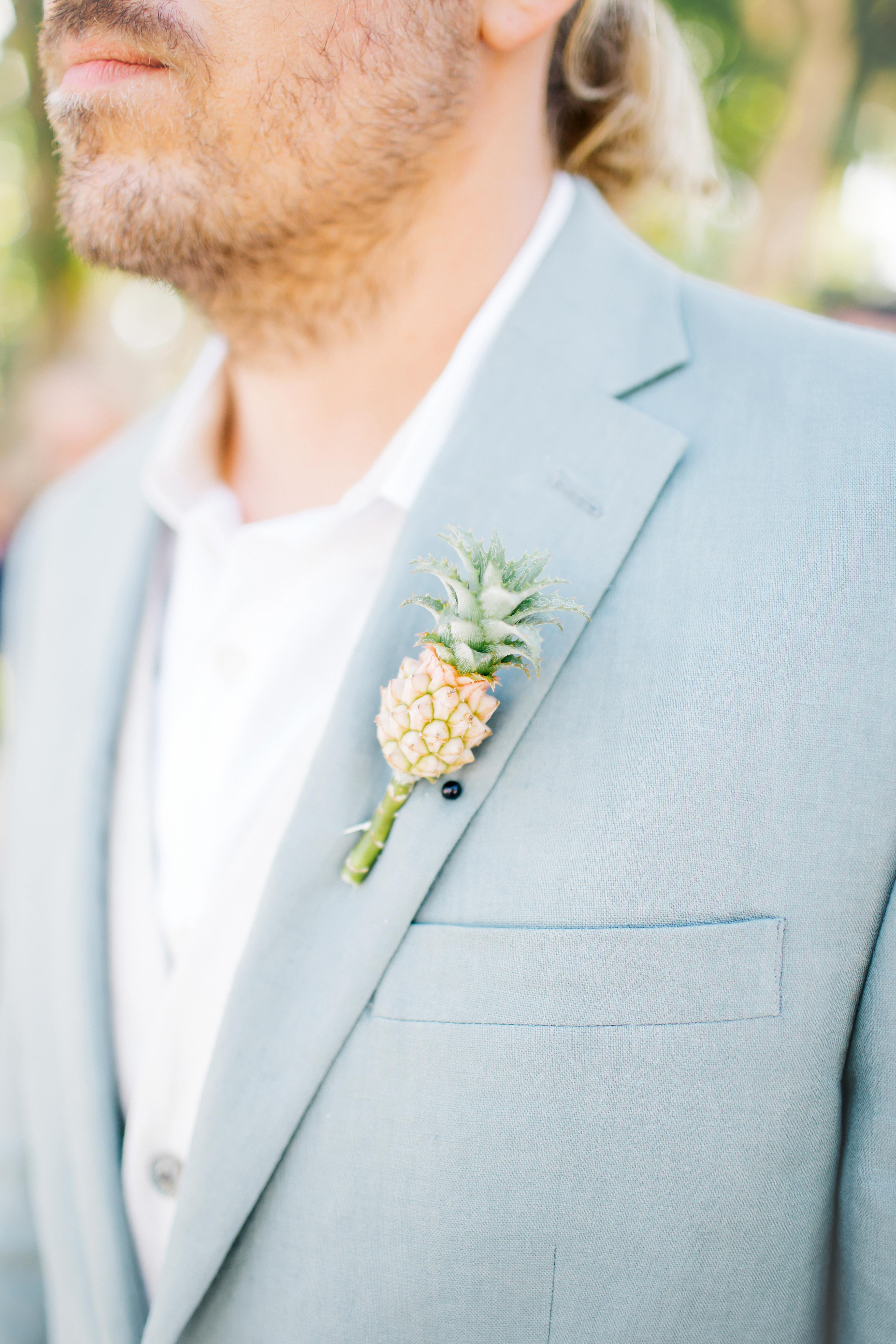 baby pineapple boutonniere