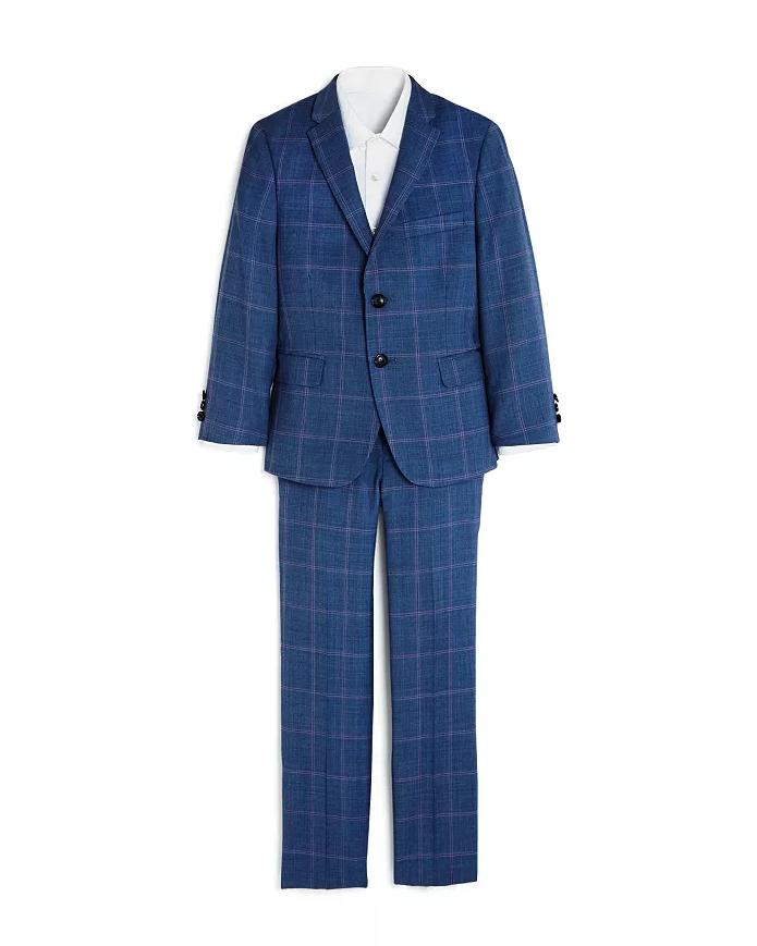 Spring Ring Bearer Attire Subtle Plaid Tallia Suit