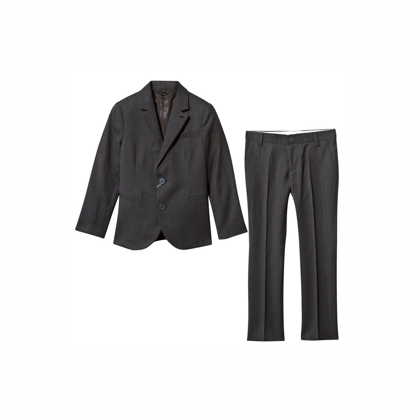 Armani Junior Charcoal Gray Wool Suit, Spring Ring Bearer Attire