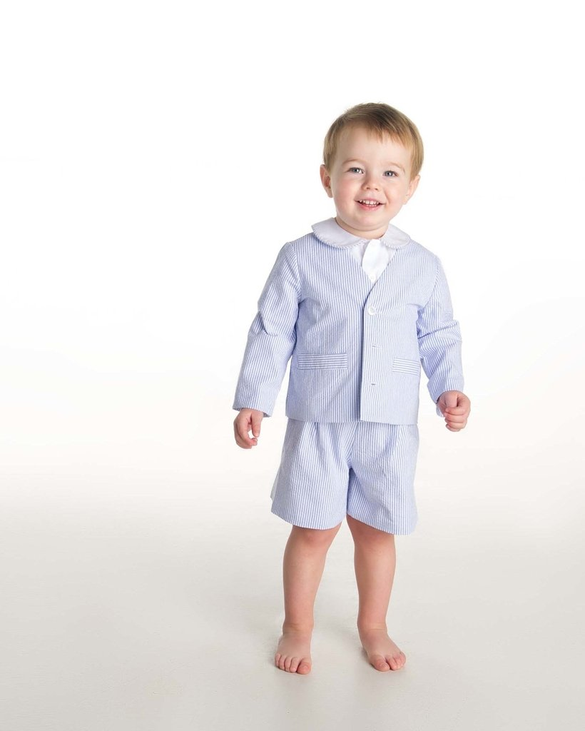 Stripe Seersucker Eton Suit