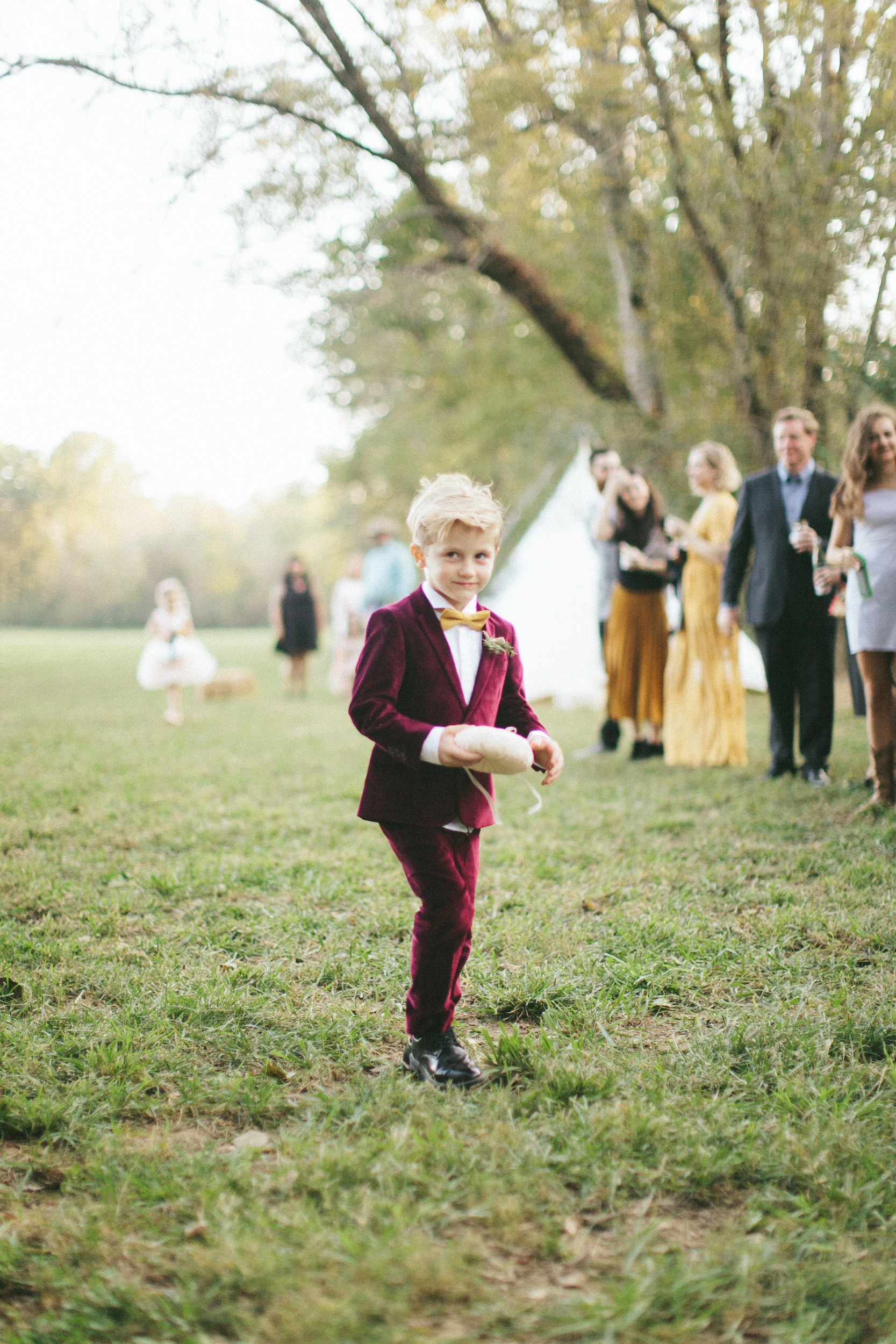 Velvet Ring Bearer Suit