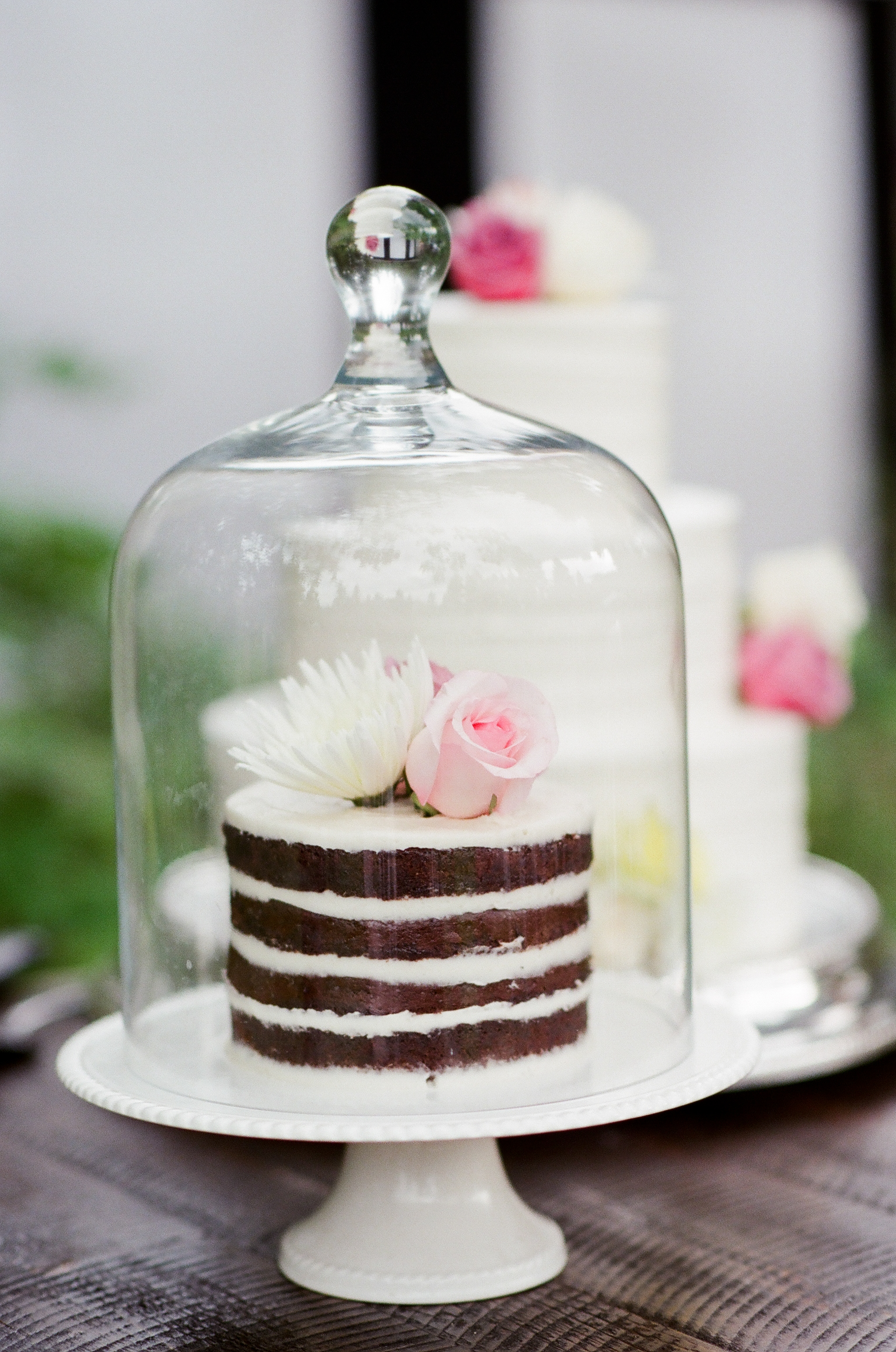 cloche wedding cake