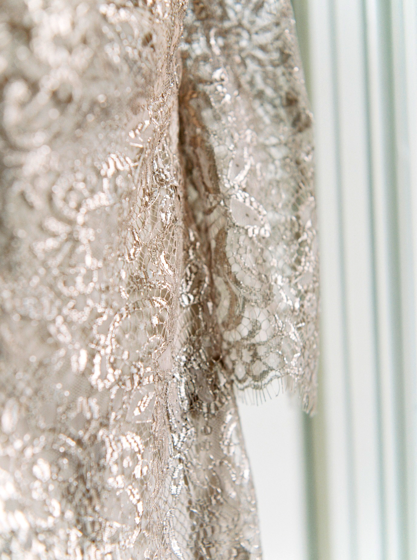 kae danny wedding metallic lace gown