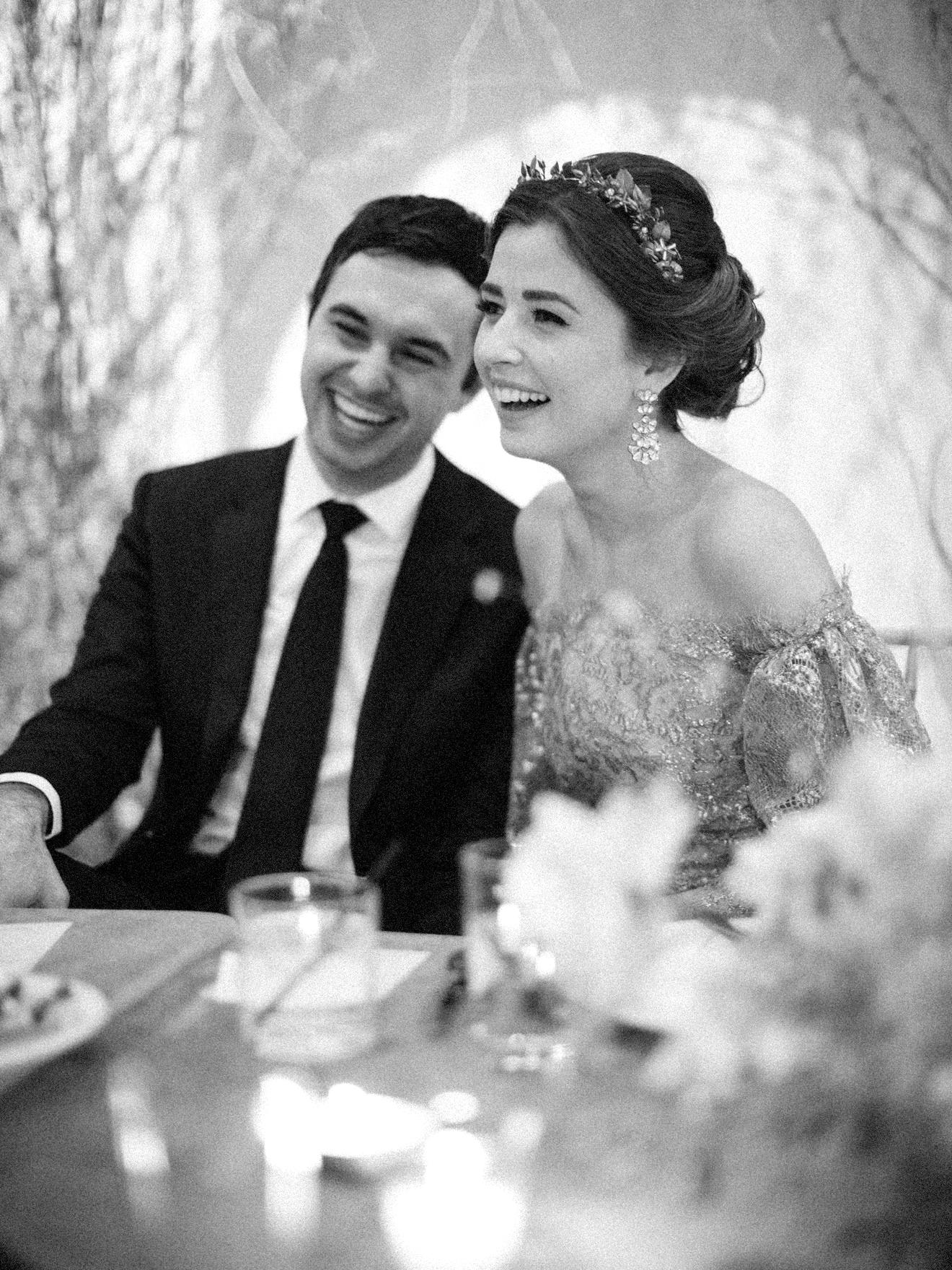 kae danny wedding couple at reception