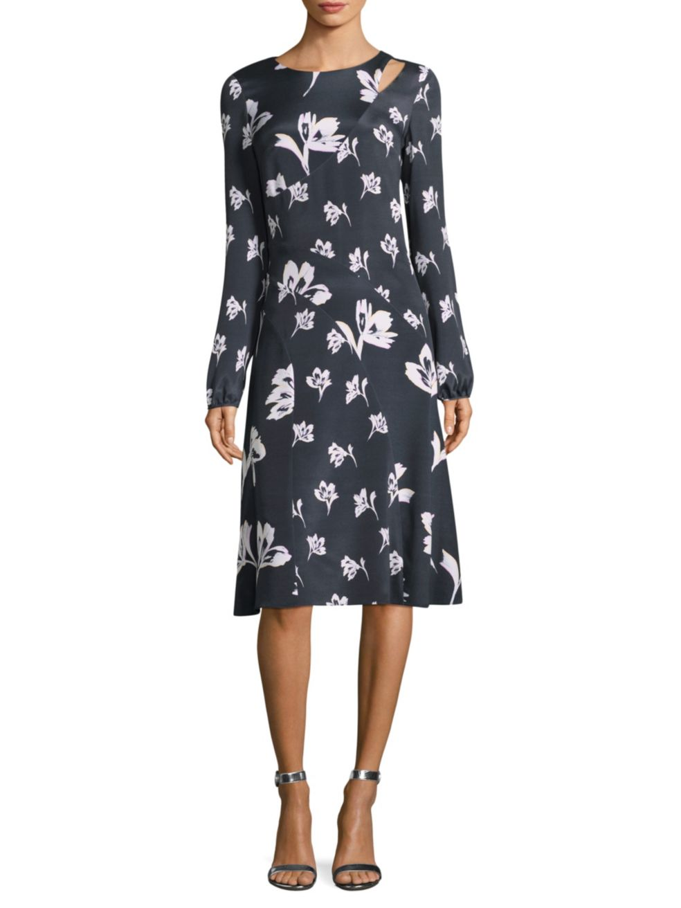 "St. John ""Falling Flower"" Dress"