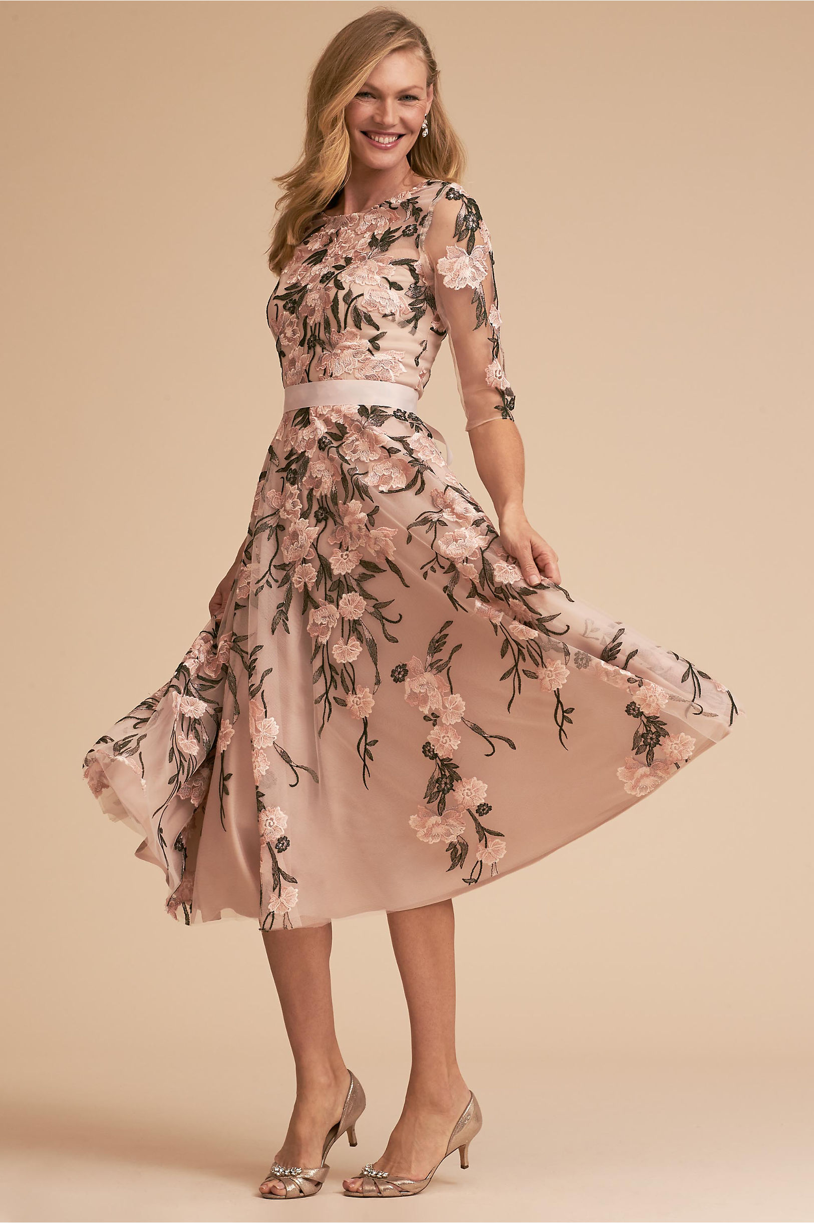 "BHLDN ""Linden"" Floral Mother of the Bride Dress"
