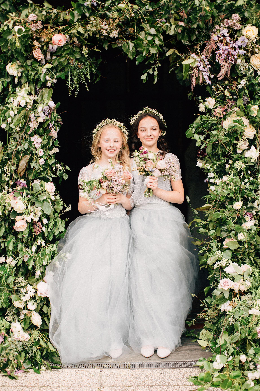 simone darren wedding ireland flower girls