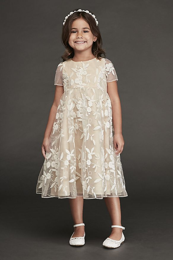 Short Lace Dress with Illusion Sleeves