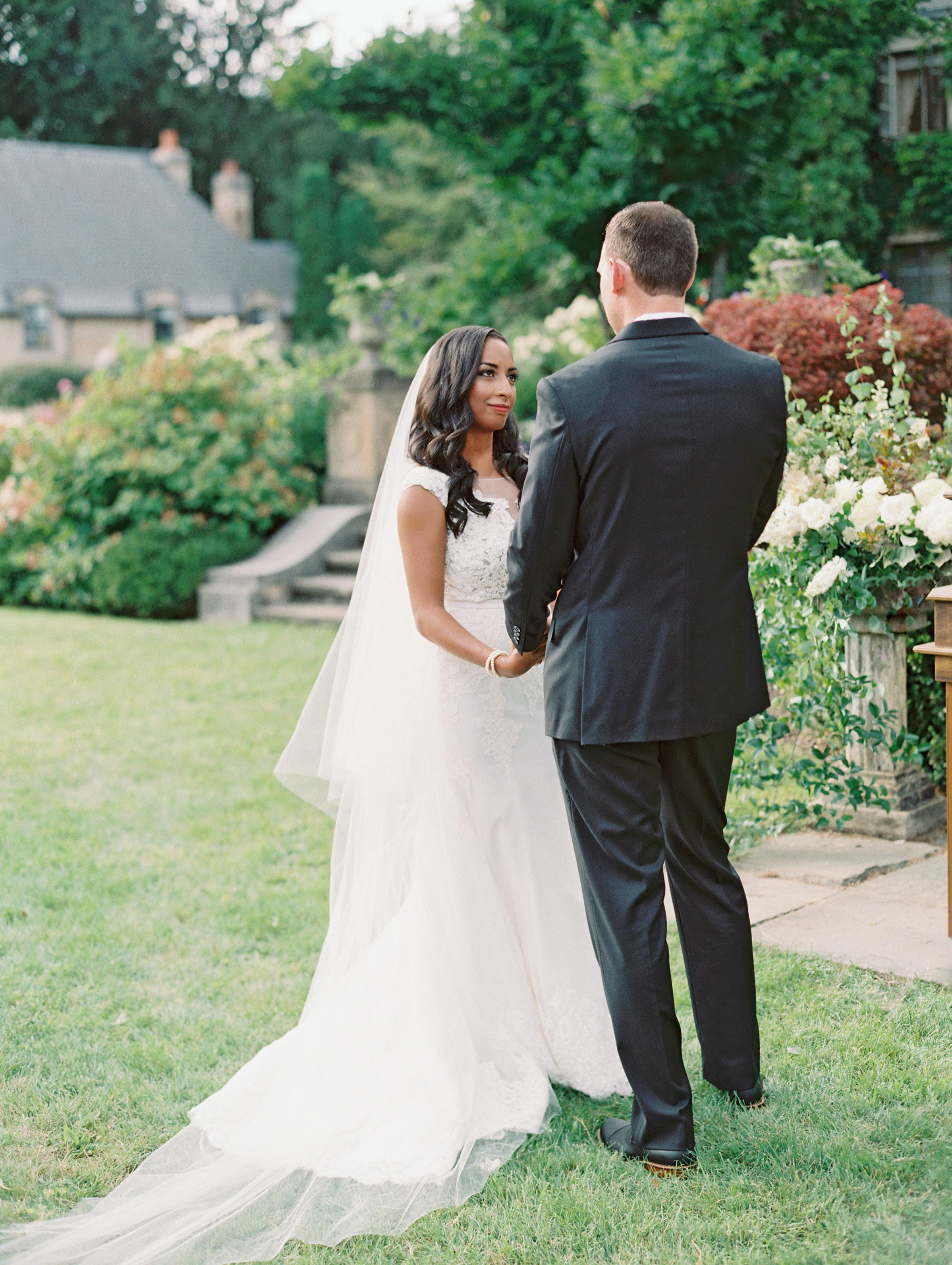 miya matthew wedding ceremony couple