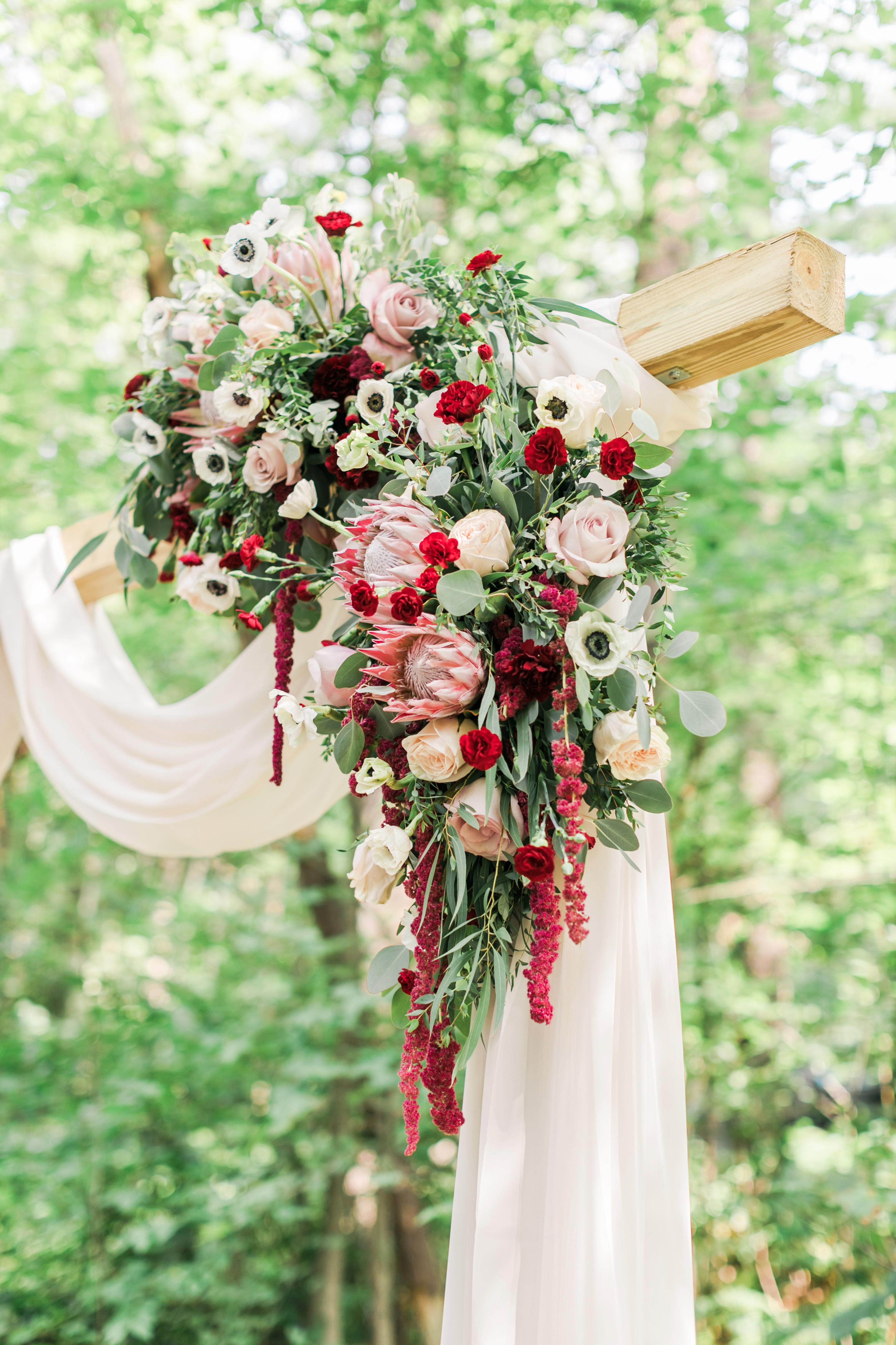 vanessa steven wedding ceremony flowers