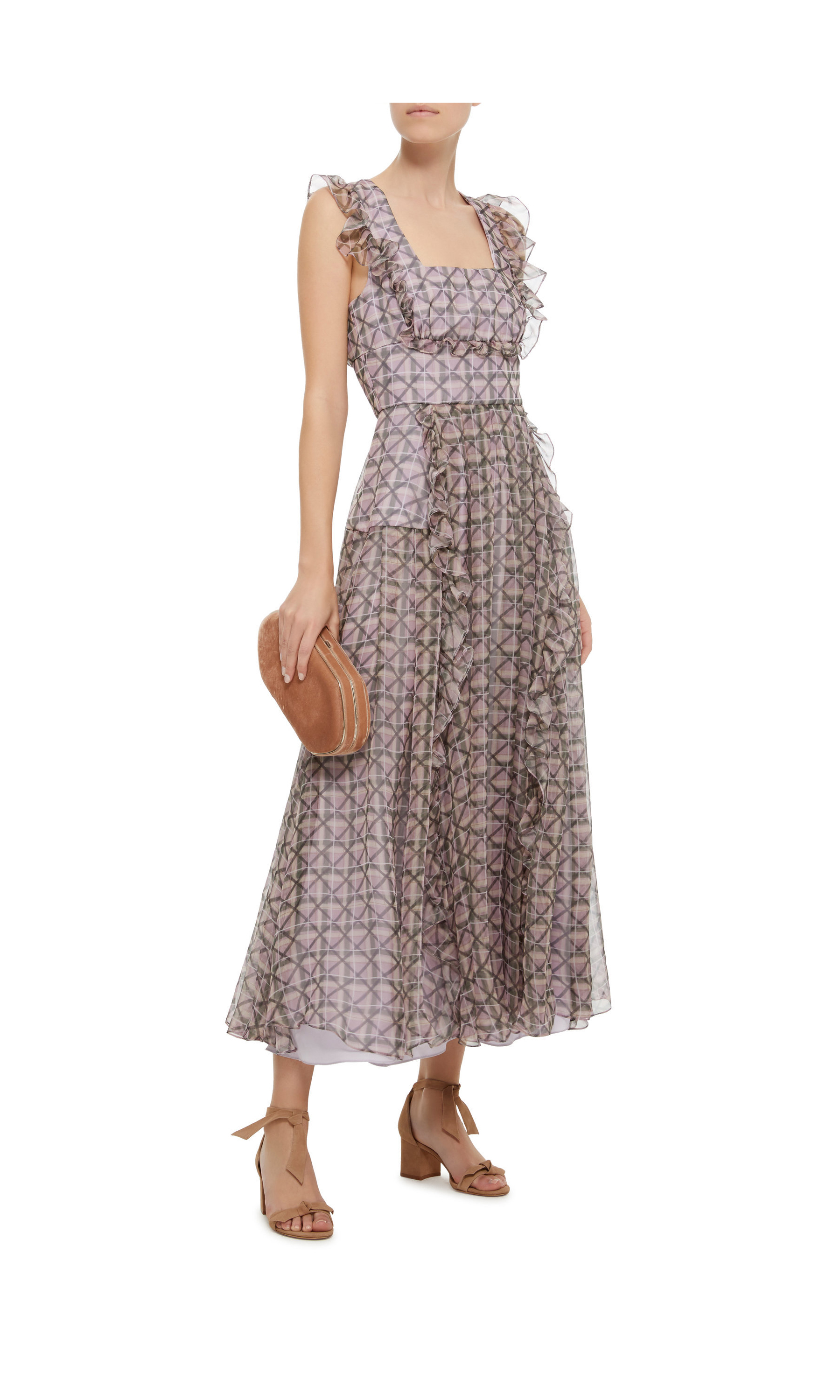 Alexa Chung Engagement Party Dress, Patterned Midi