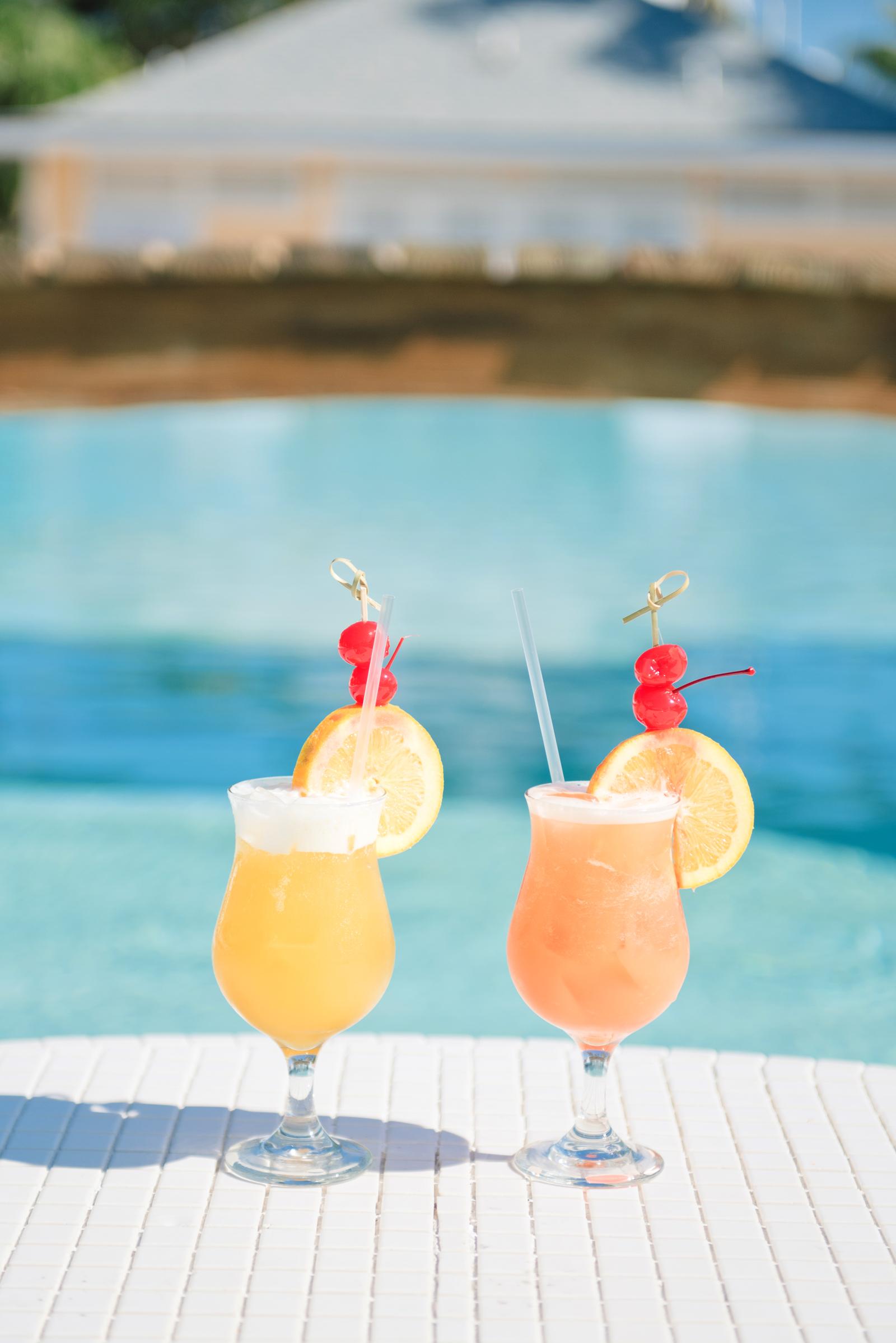 orange and lemon slushy cocktails