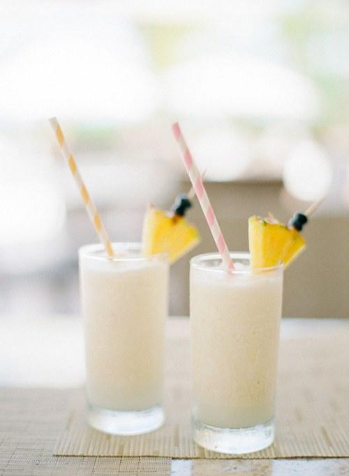 frozen cocktails Piña Coladas