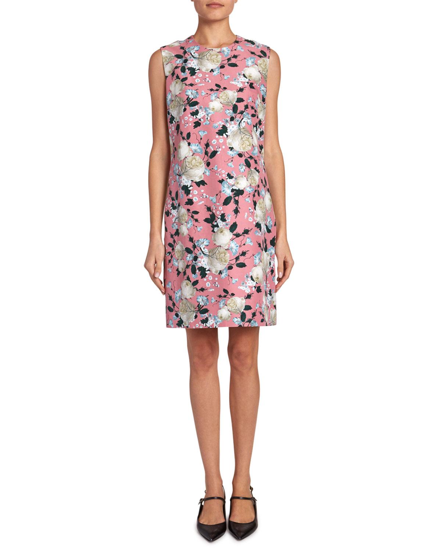 "Erdem ""Rivanna"" Floral Short-Sleeved Dress"