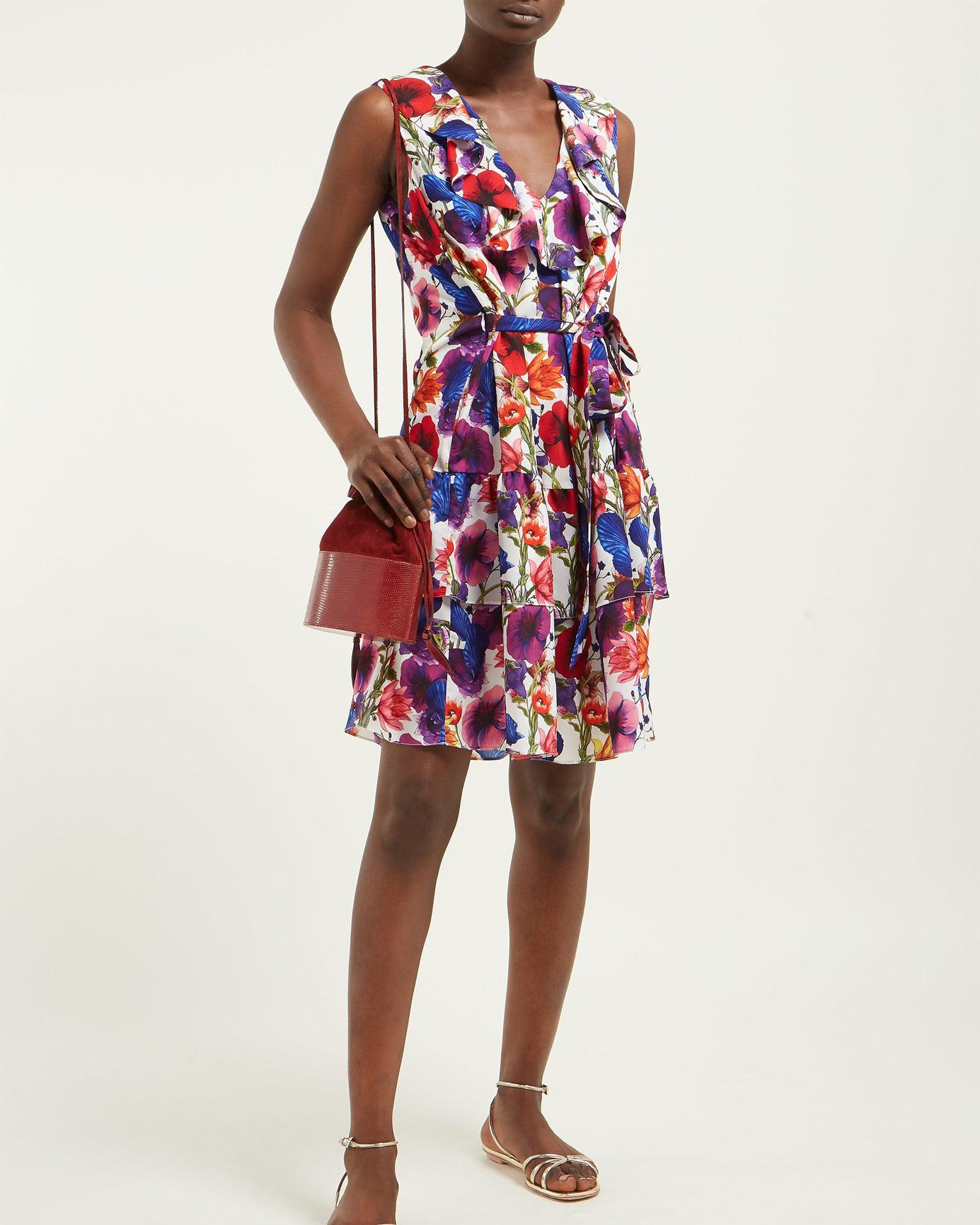"Borgo de Nor ""Carla Venus"" Print Crepe Mini Dress"