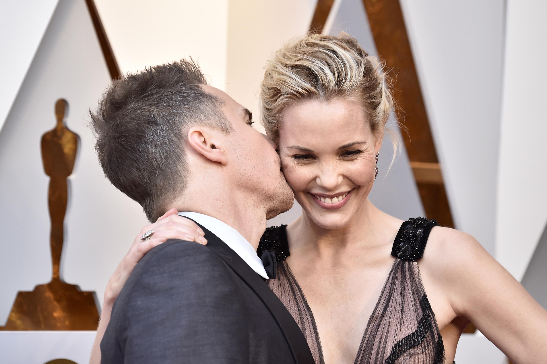 Sam Rockwell and Leslie Bibb 2018 Oscars