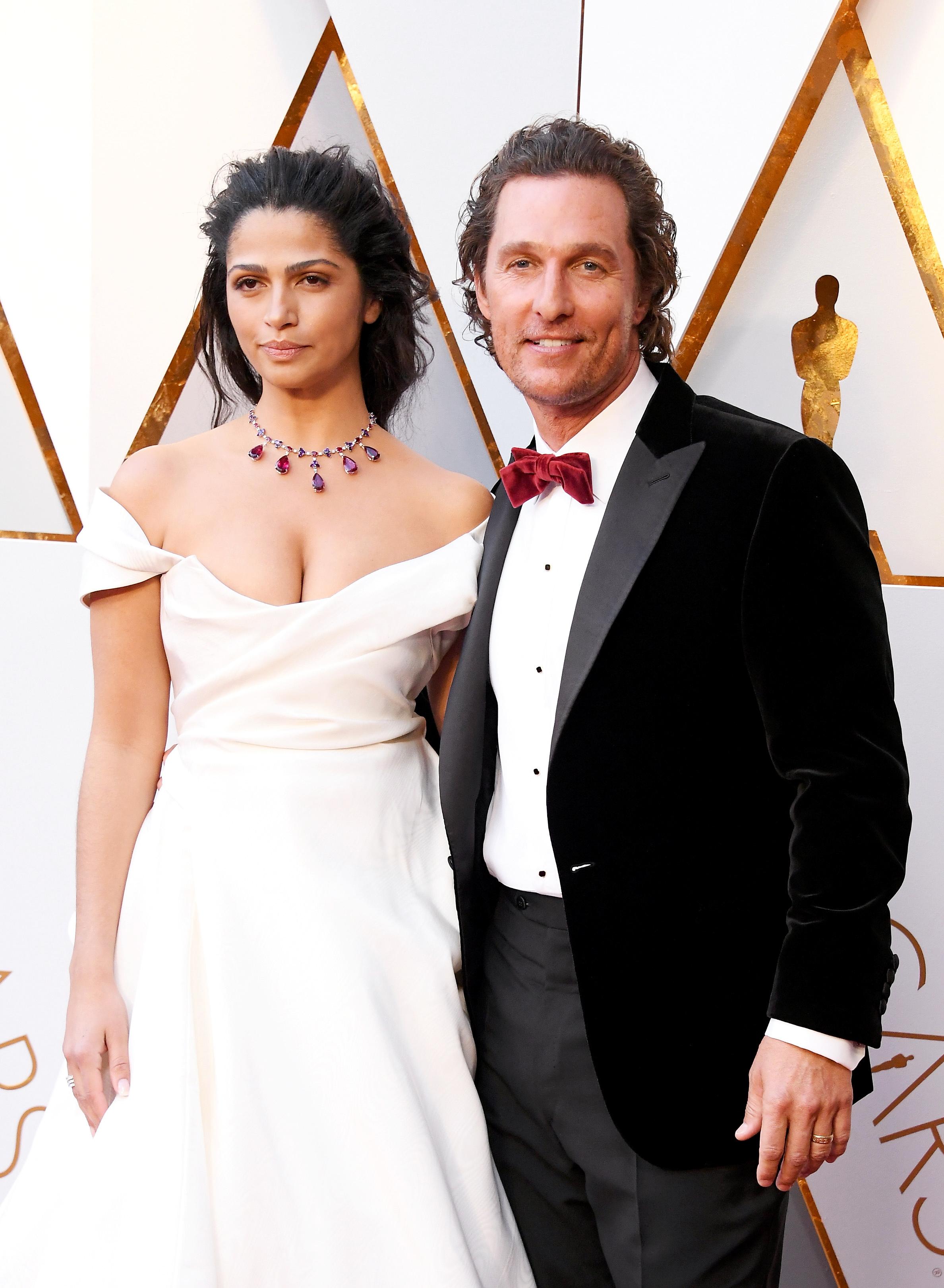 Matthew McConaughey and Camila Alves 2018 Oscars