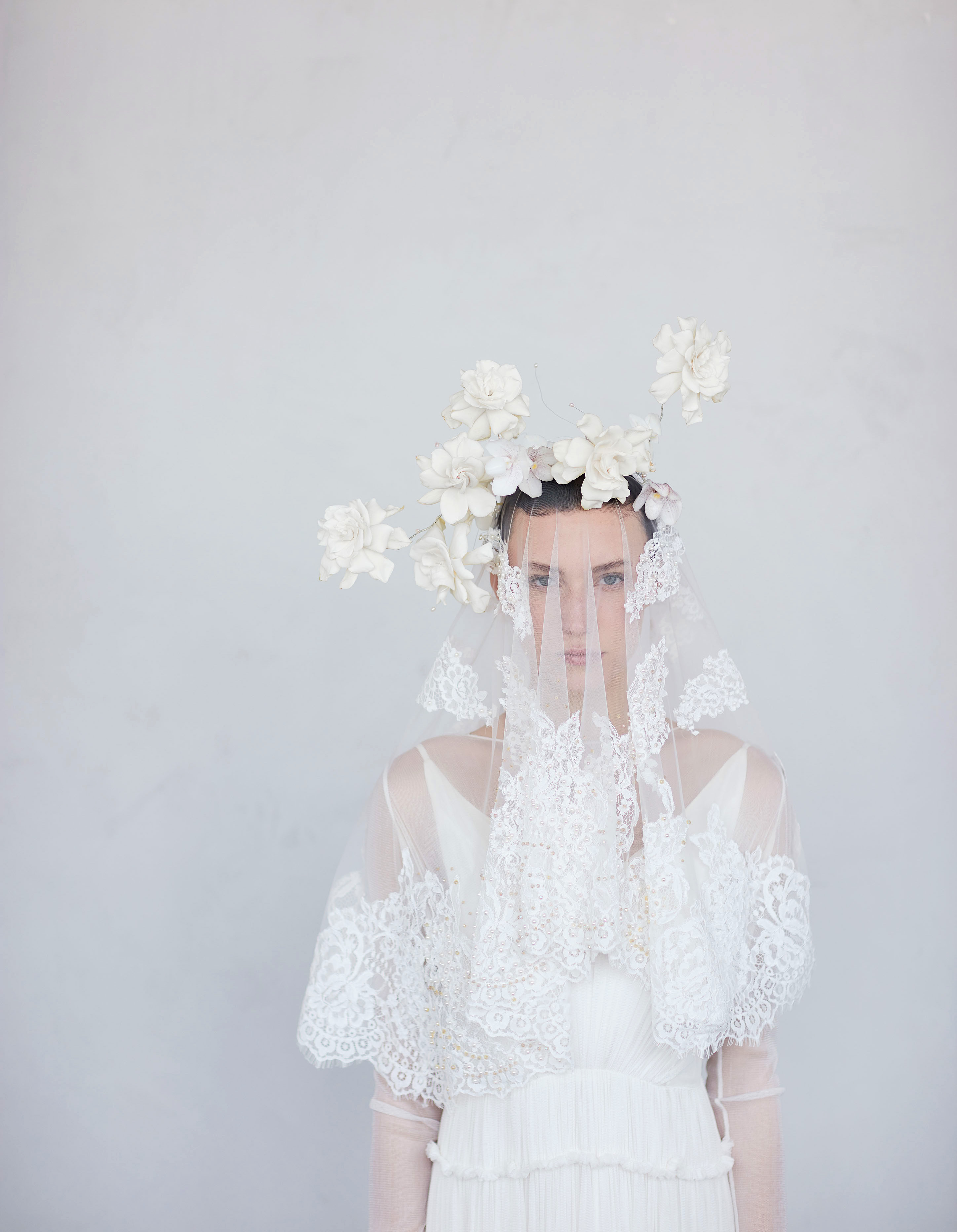 flower lace headpiece