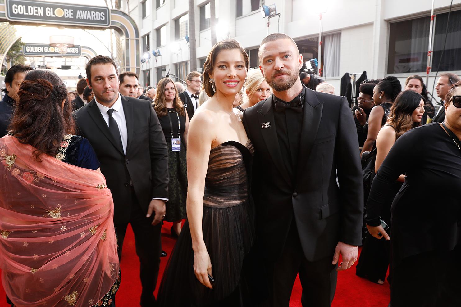 Justin Timberlake and Jessica Biel 2018 Golden Globes