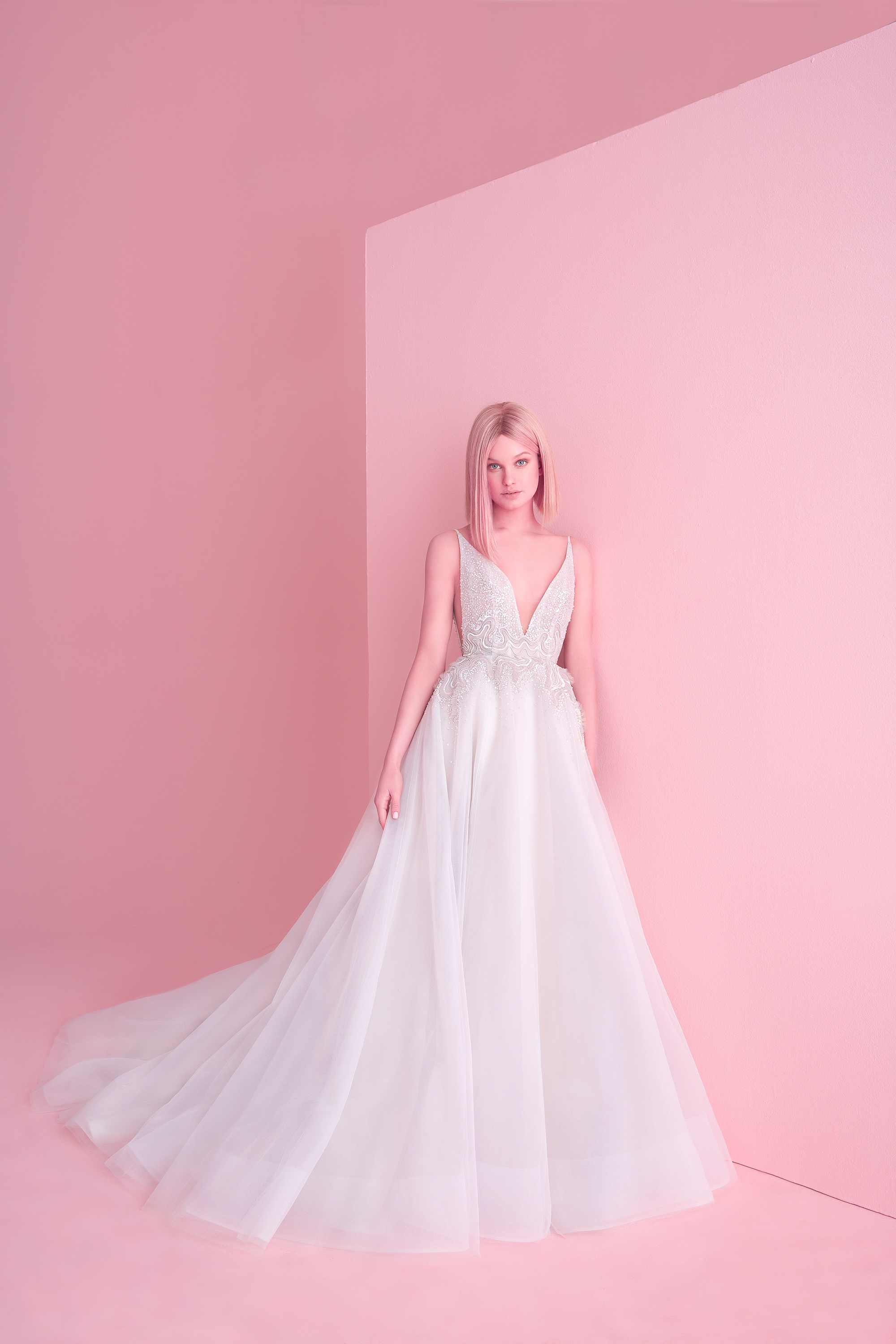 hayley paige wedding dress spring 2019 ball gown with lace bodice