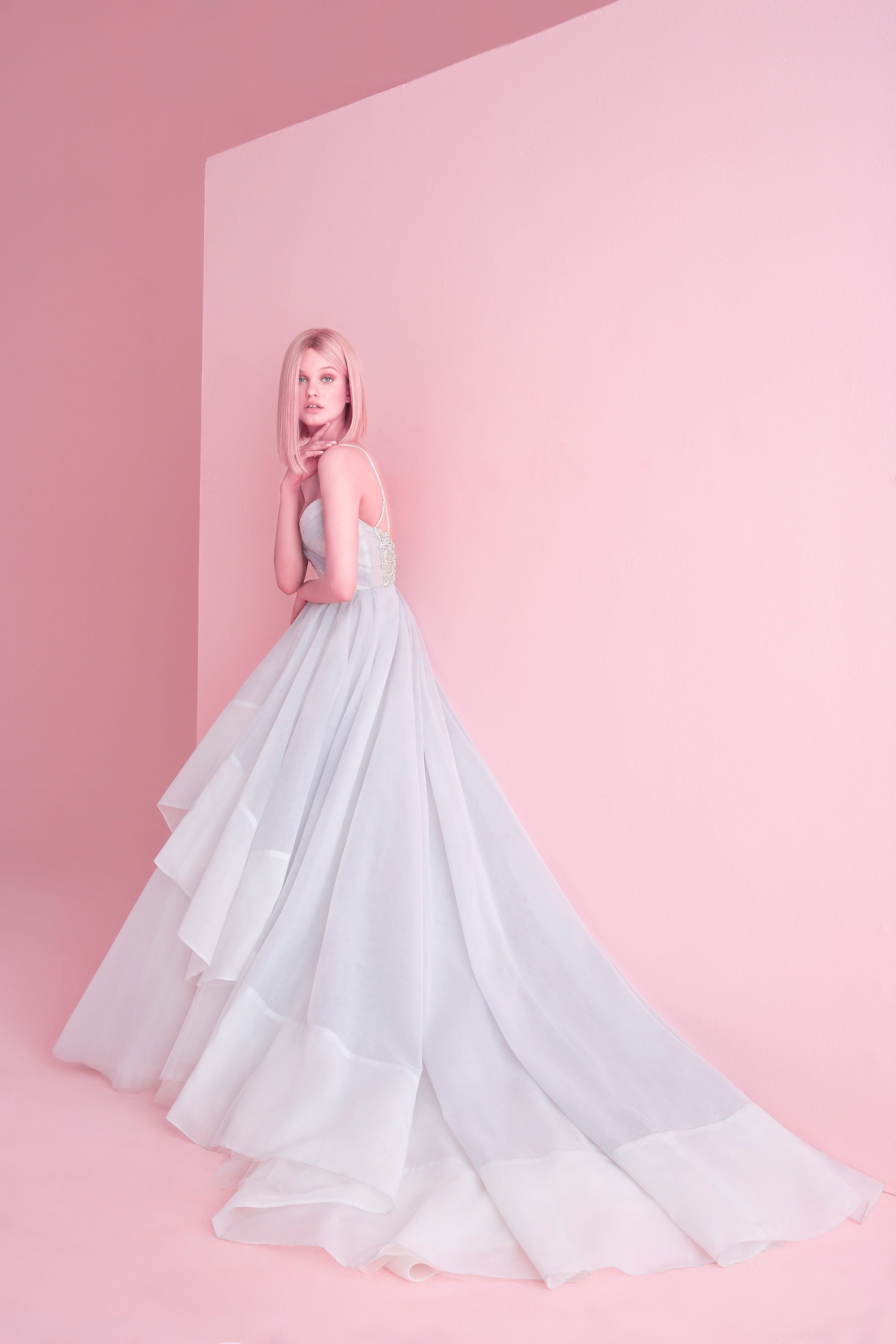 hayley paige wedding dress spring 2019 blue ball gown