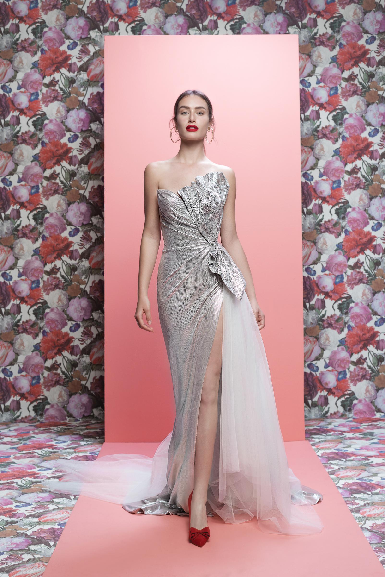 Galia Lahav wedding dress spring 2019 silver strapless sheath