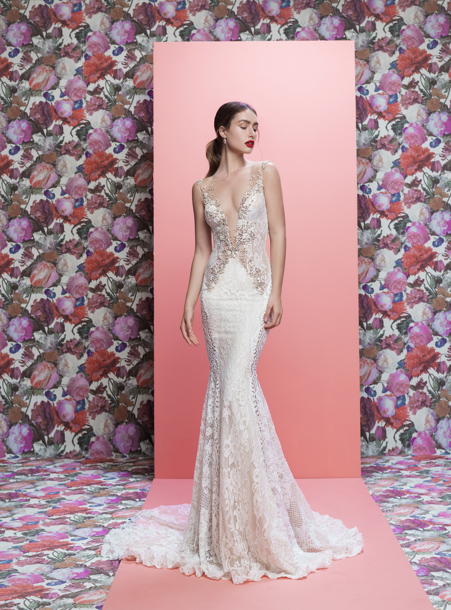 Galia Lahav wedding dress spring 2019 sparkly lace v-neck mermaid