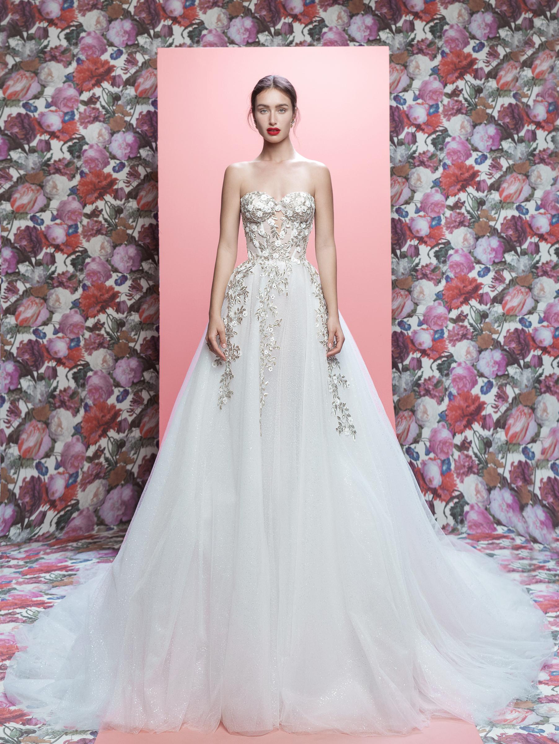 Galia Lahav wedding dress spring 2019 sparkly strapless a-line
