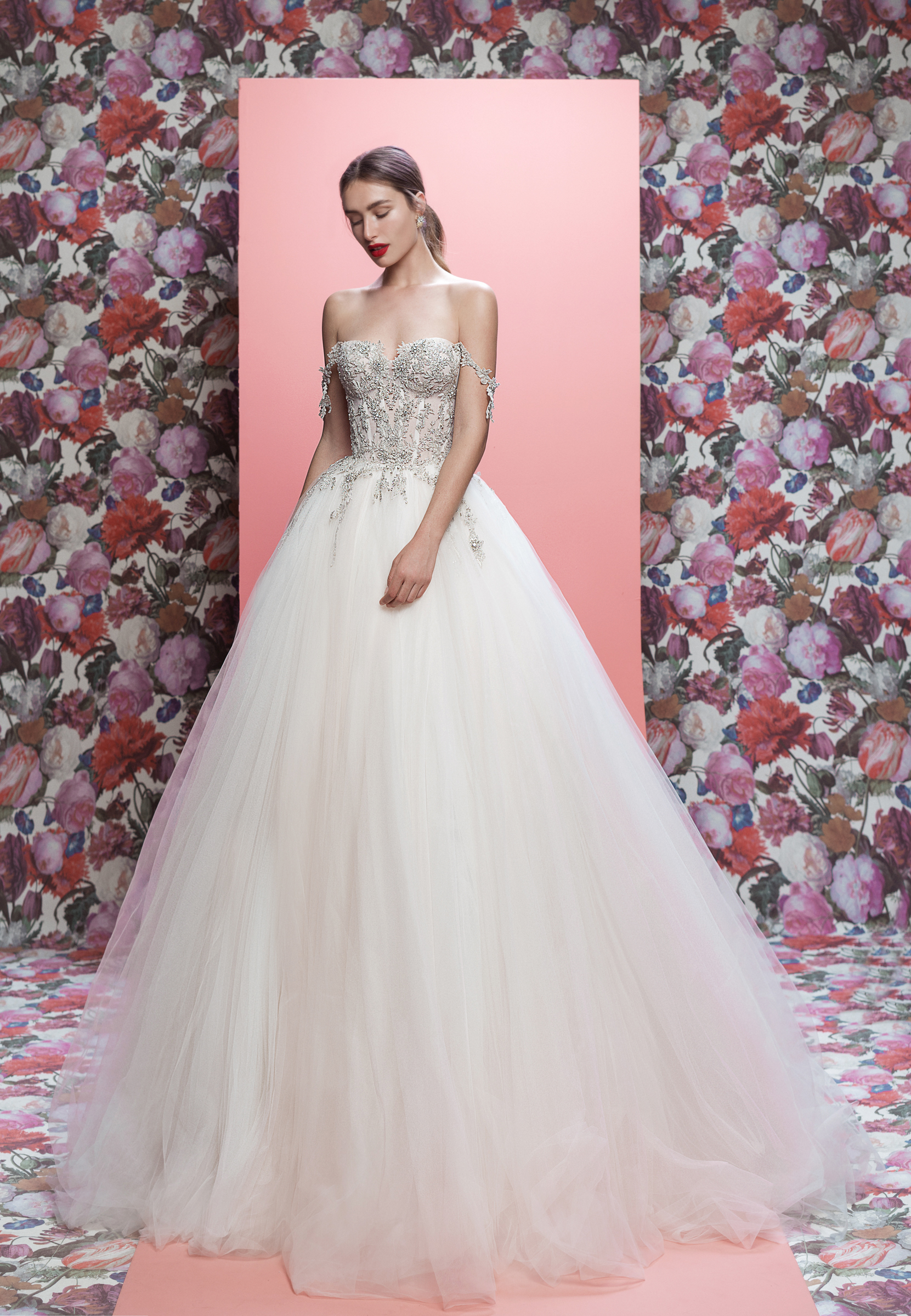 Galia Lahav wedding dress spring 2019 off-the-shoulder ball gown