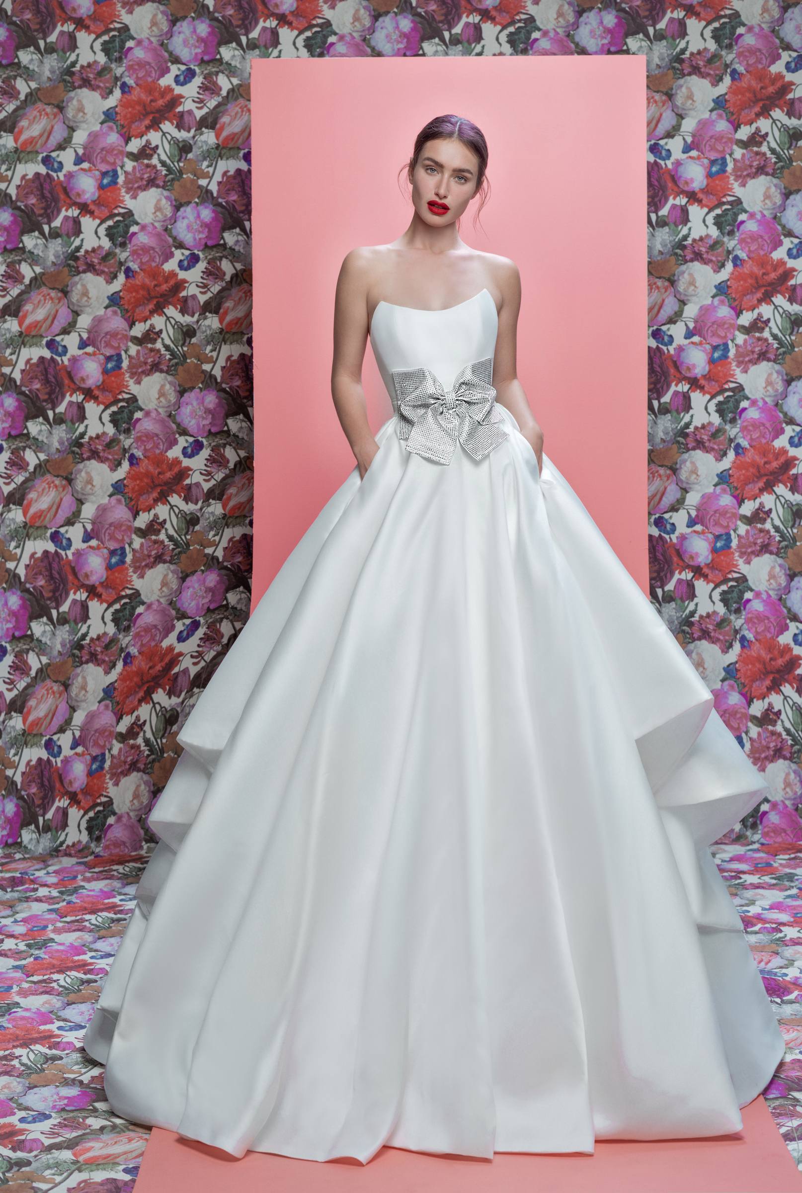 Galia Lahav wedding dress spring 2019 strapless satin ball gown