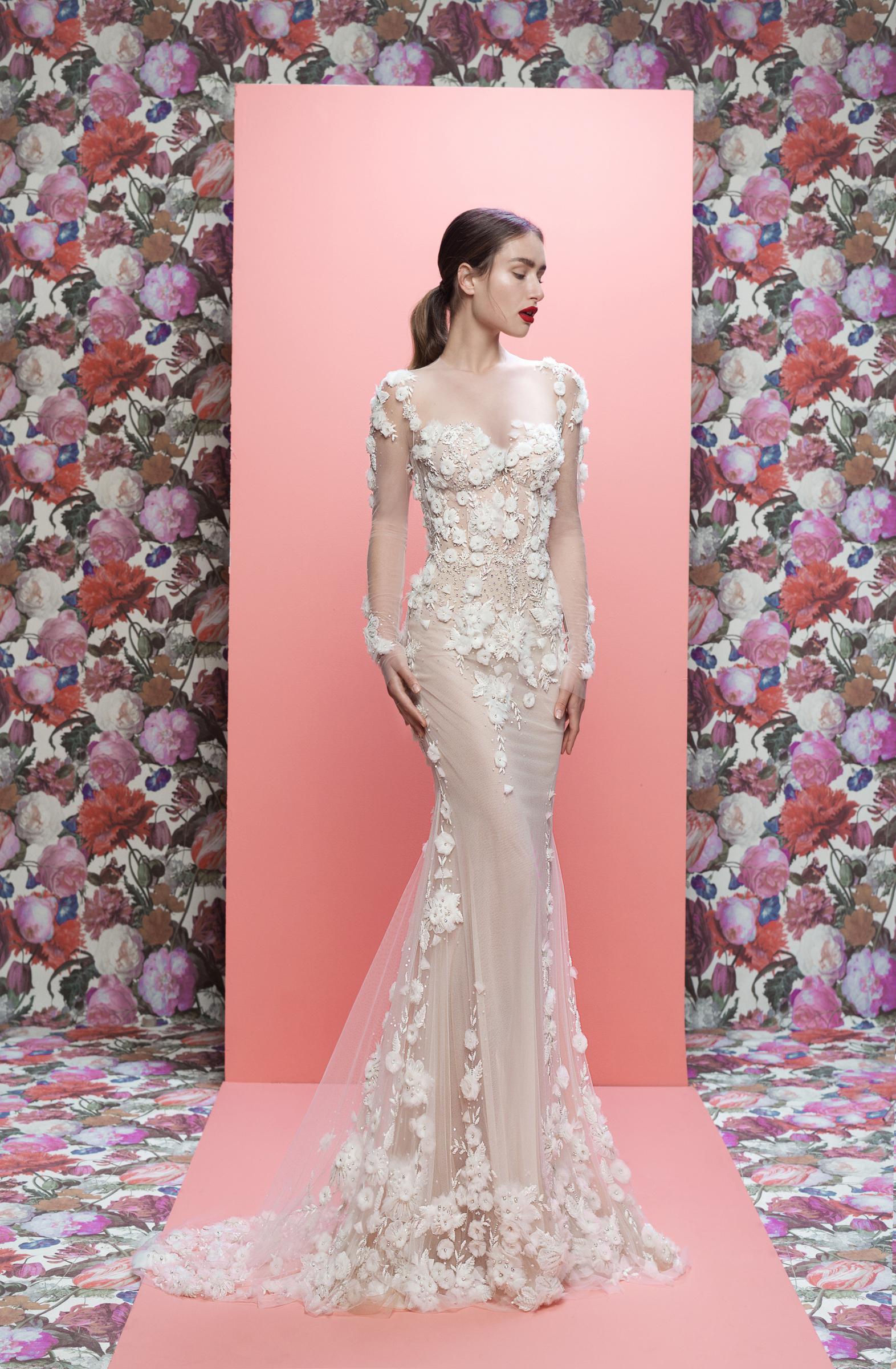 Galia Lahav wedding dress spring 2019 lace long sleeve mermaid