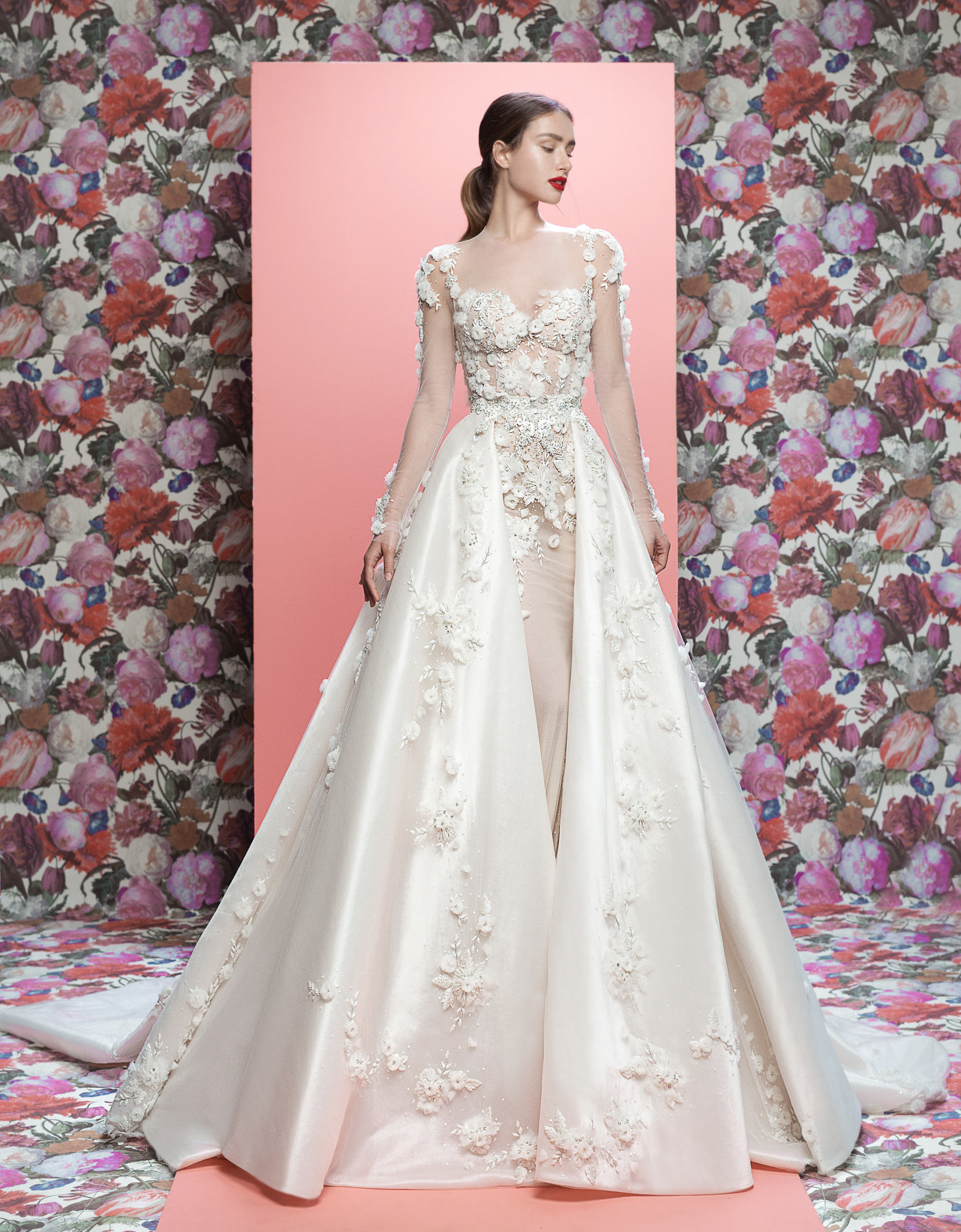 Galia Lahav wedding dress spring 2019 long sleeve sweetheart ball gown