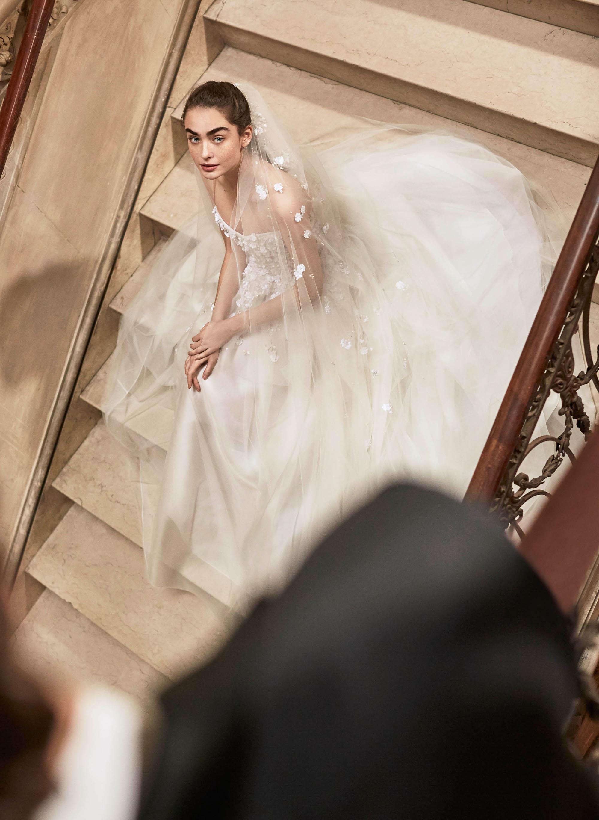 Carolina Herrera wedding dress spring 2019 strapless ballgown floral applique
