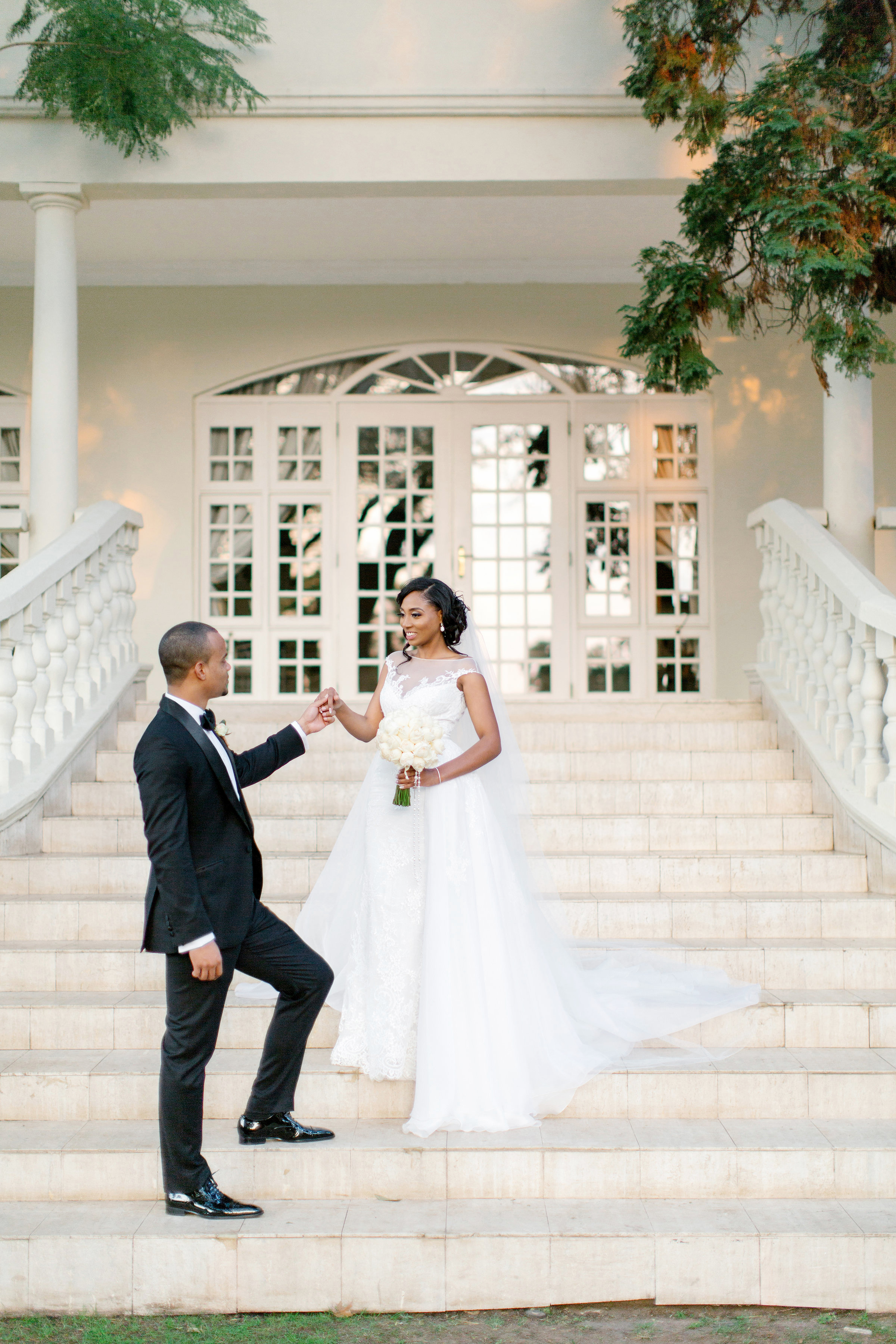chloe shayo south africa wedding couple portrait steps