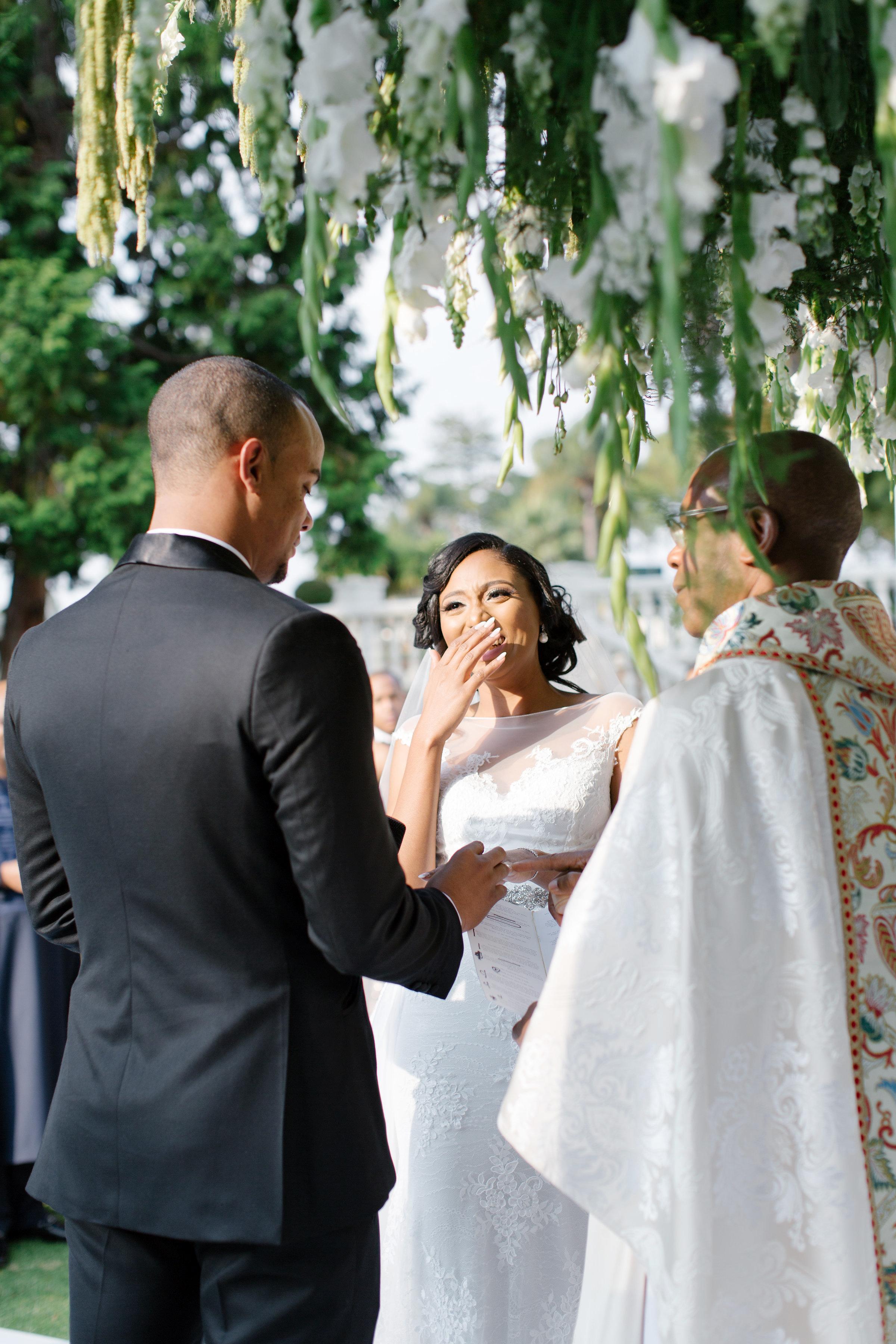 chloe shayo south africa wedding ceremony couple