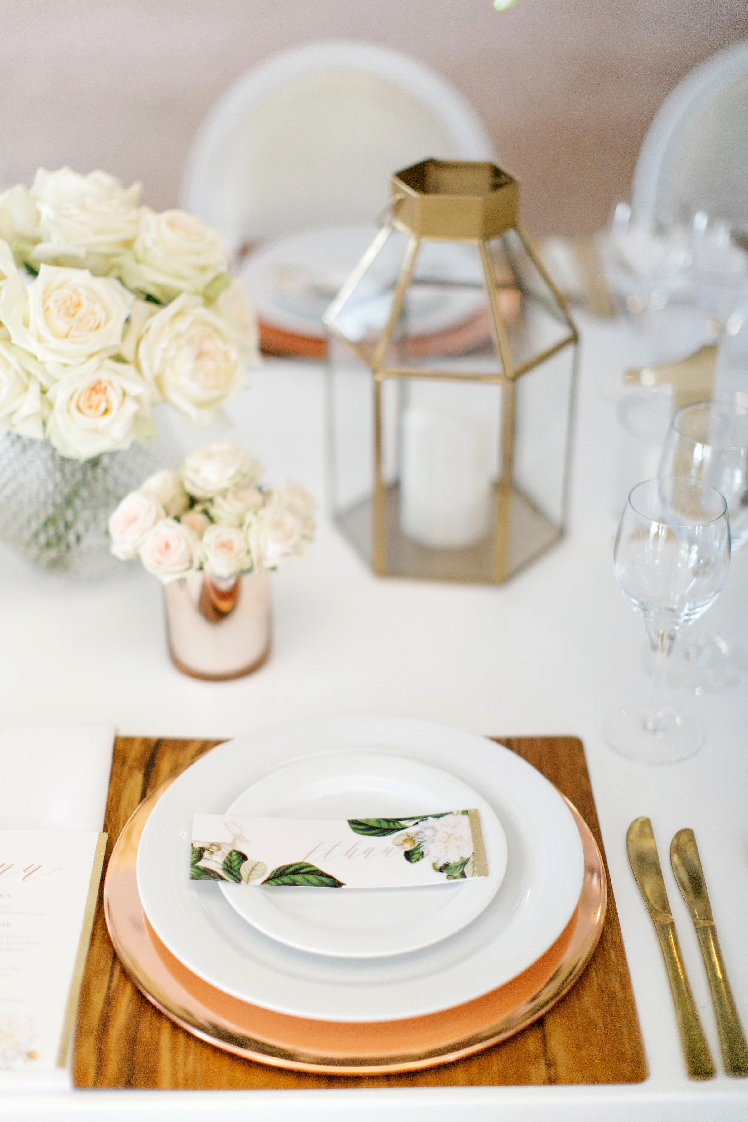 chloe shayo south africa wedding place setting